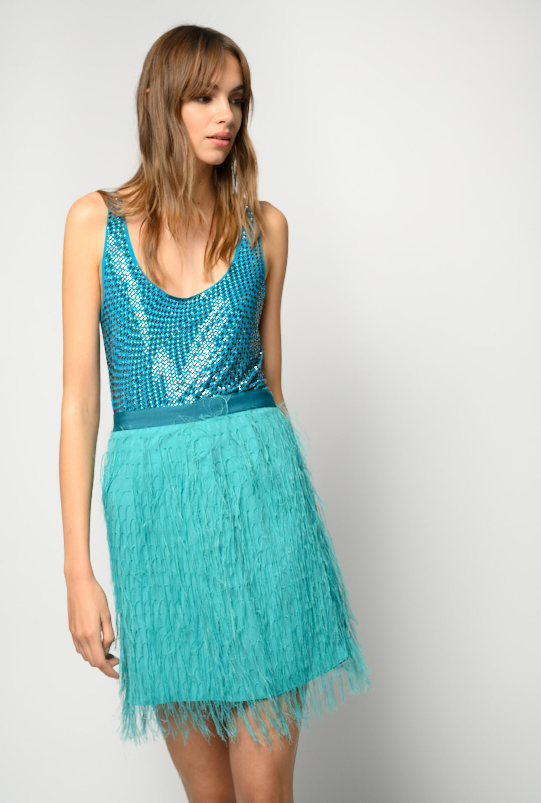 Top With Applied Rhinestones - Pinko