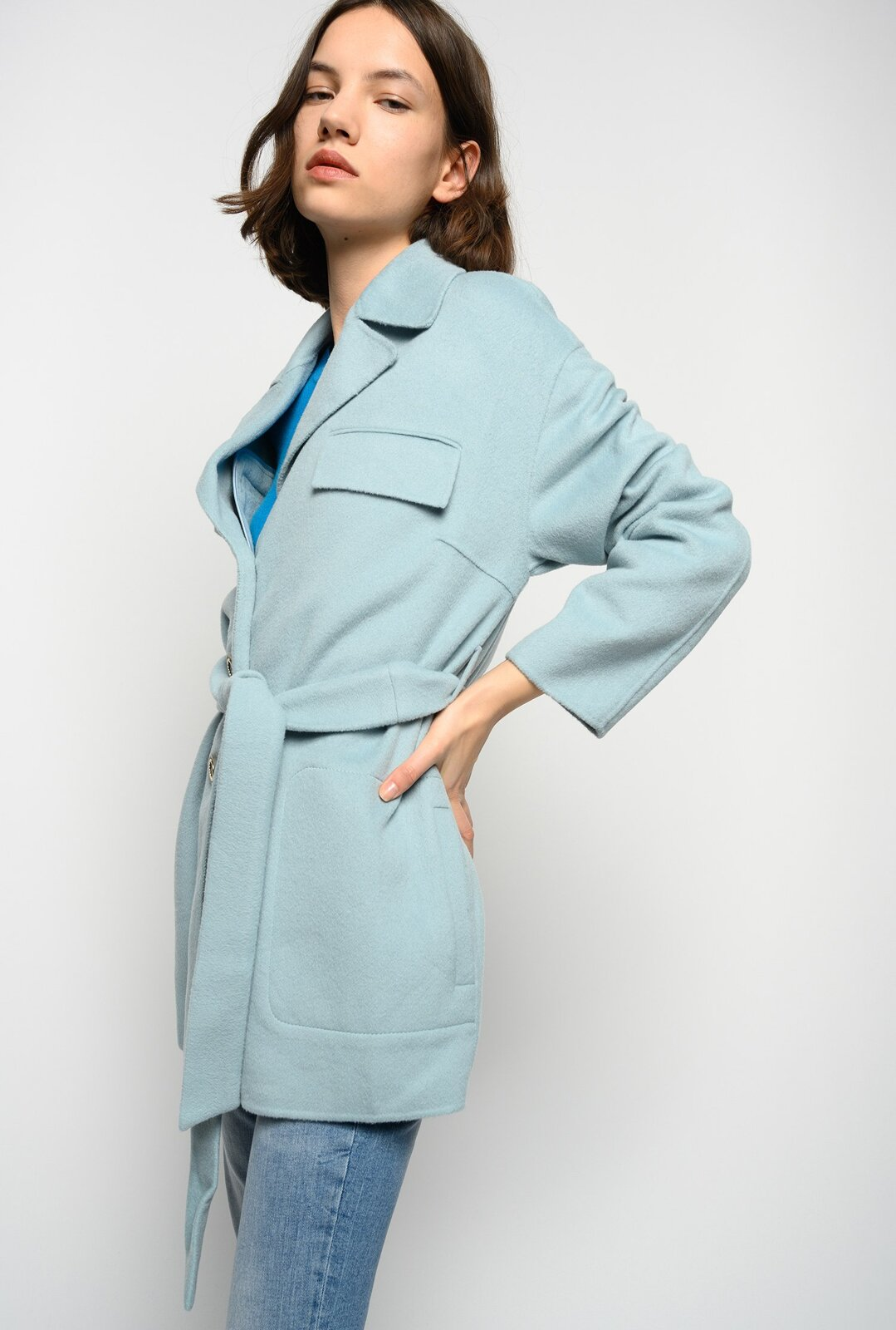 Field Jacket In Panno Double - Pinko