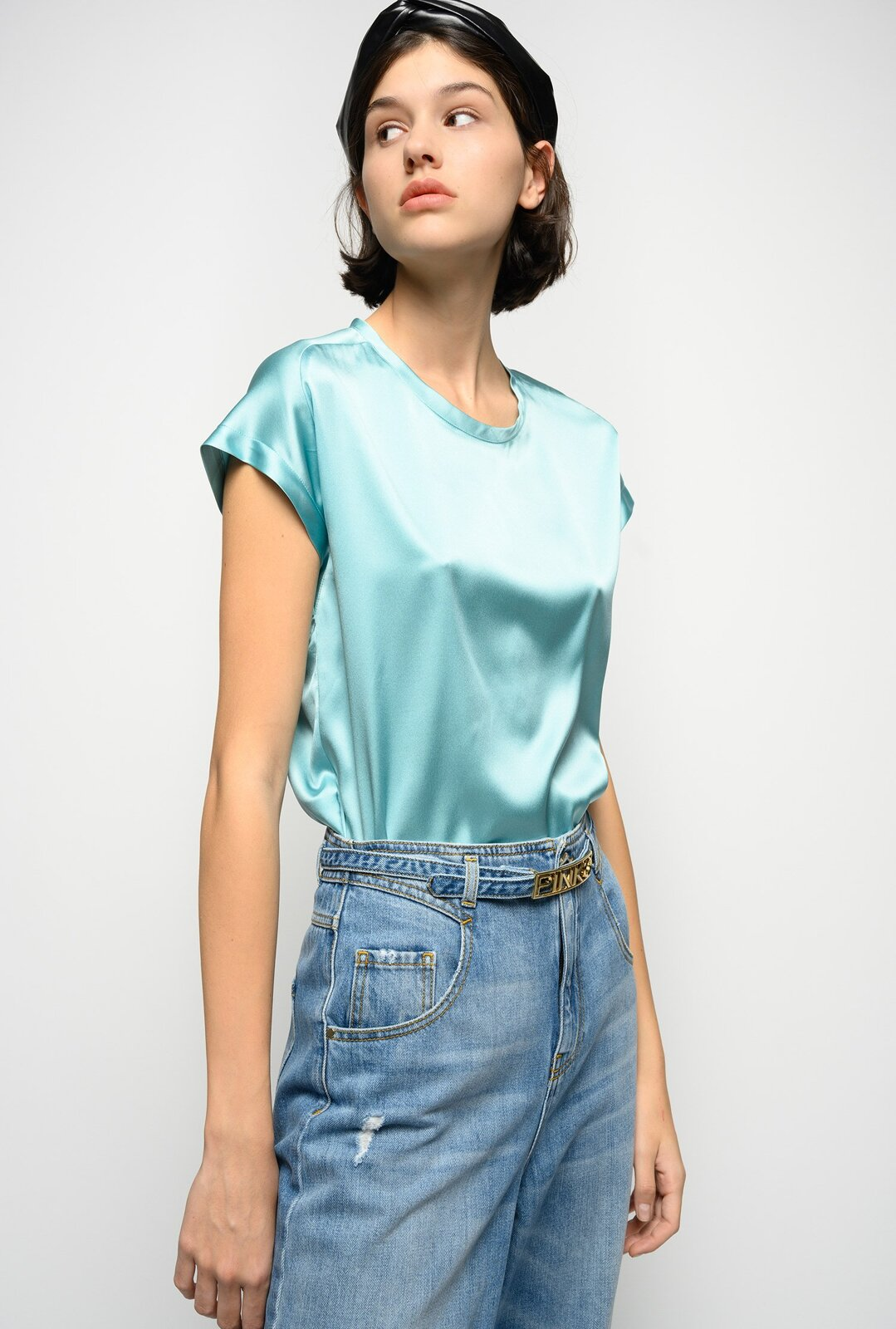 Blusa In Satin Stretch - Pinko