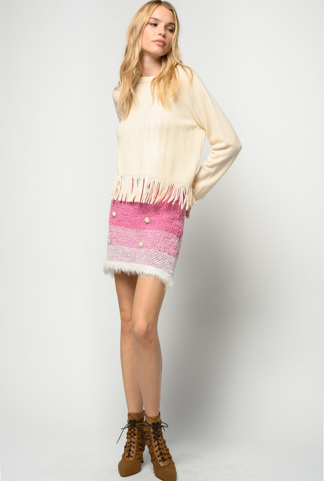 Cashmere And Sequins Sweater - Pinko