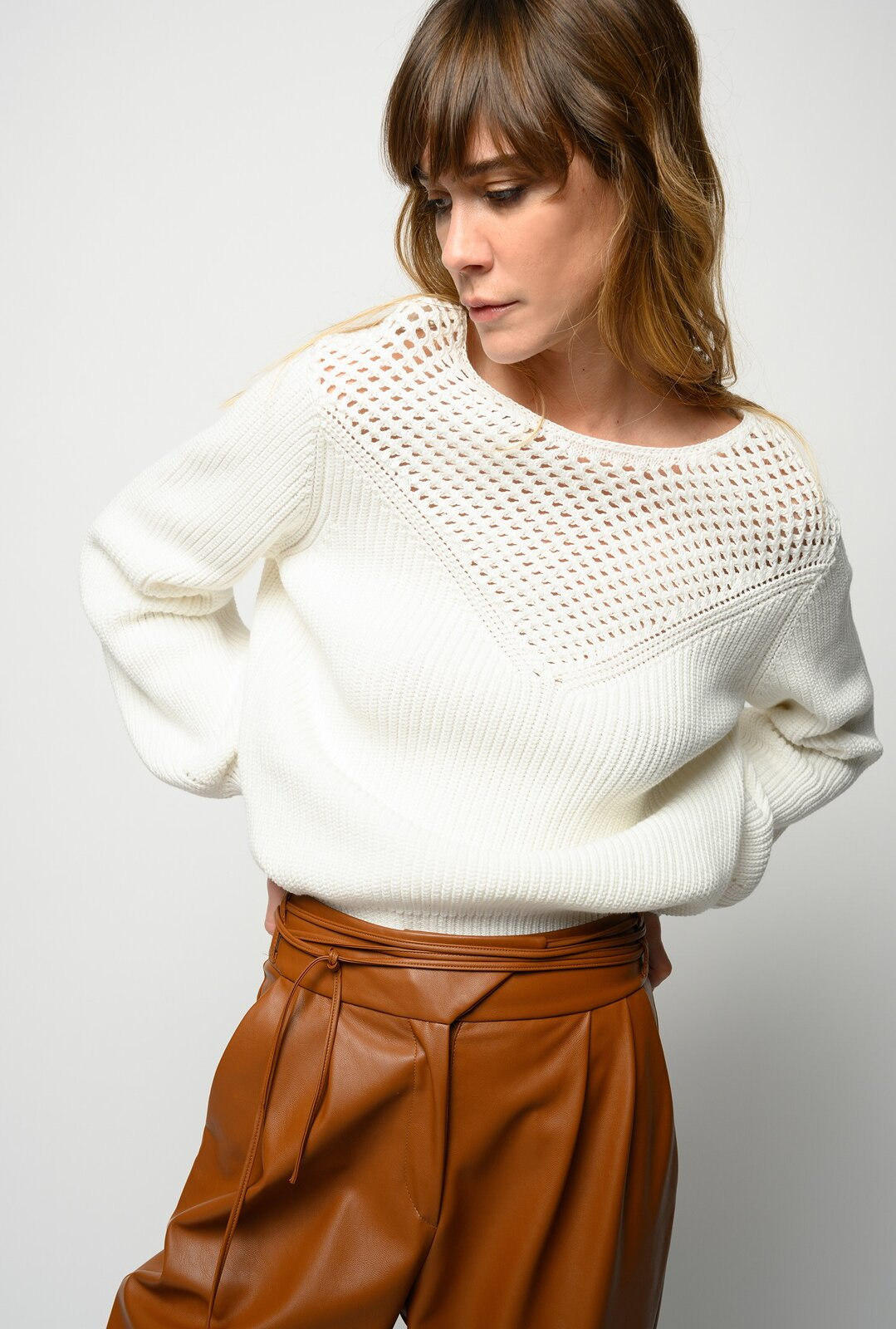 Ribbed Cotton Sweater - Pinko