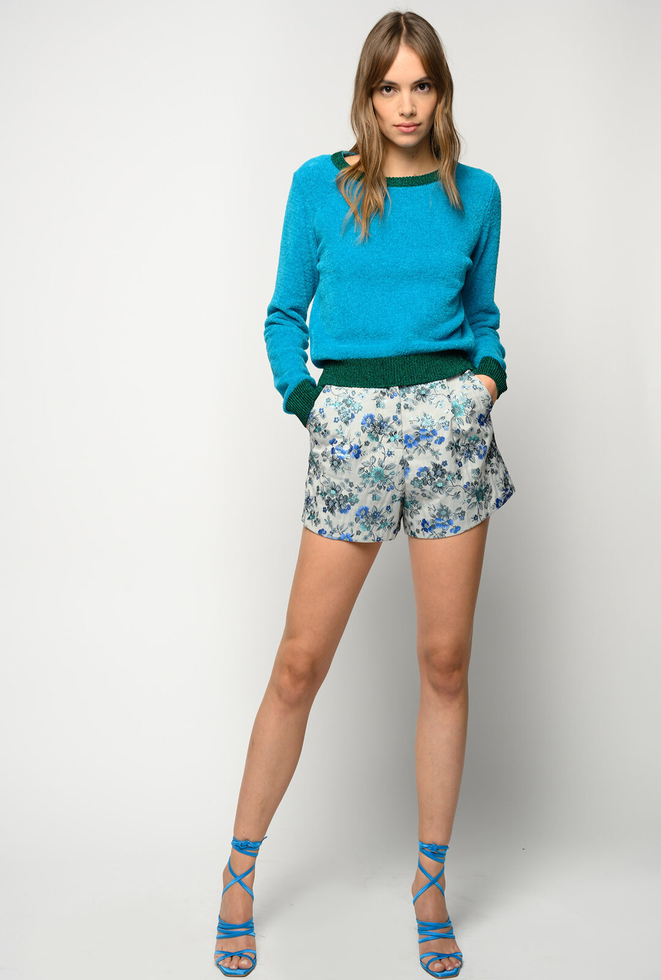 Sweater With Lurex Profiles - Pinko