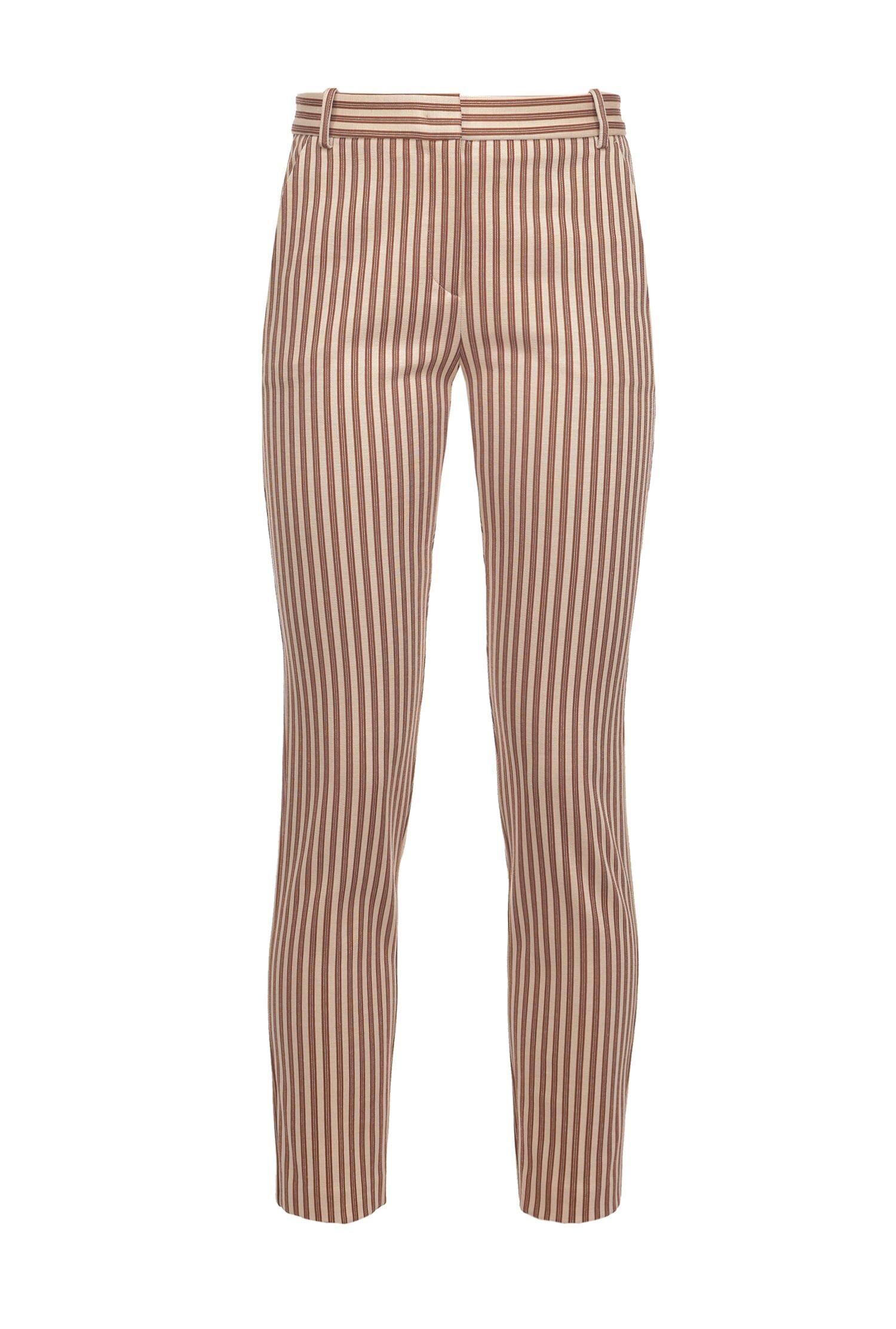Pantaloni Cigarette-Fit A Righe - Pinko