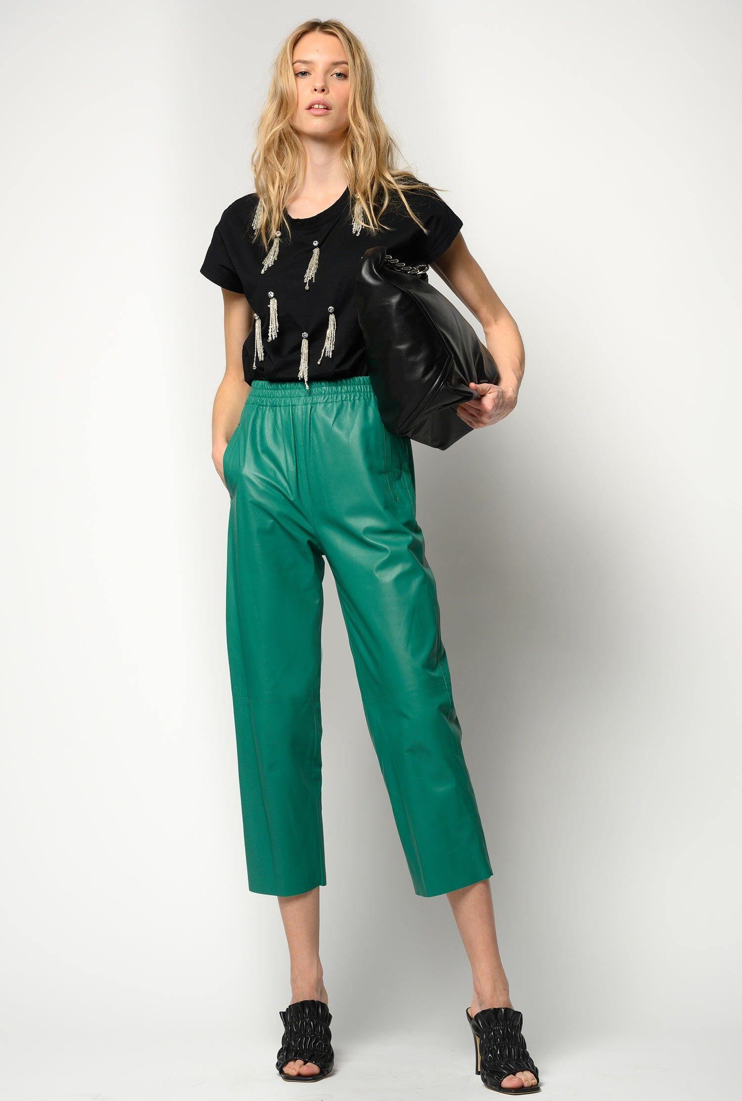 Pantaloni In Pelle Ultralight - Pinko
