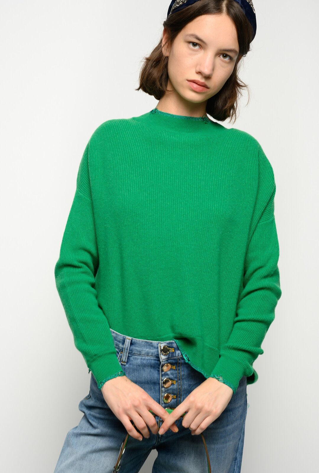 Pullover With Lurex Profiles - Pinko