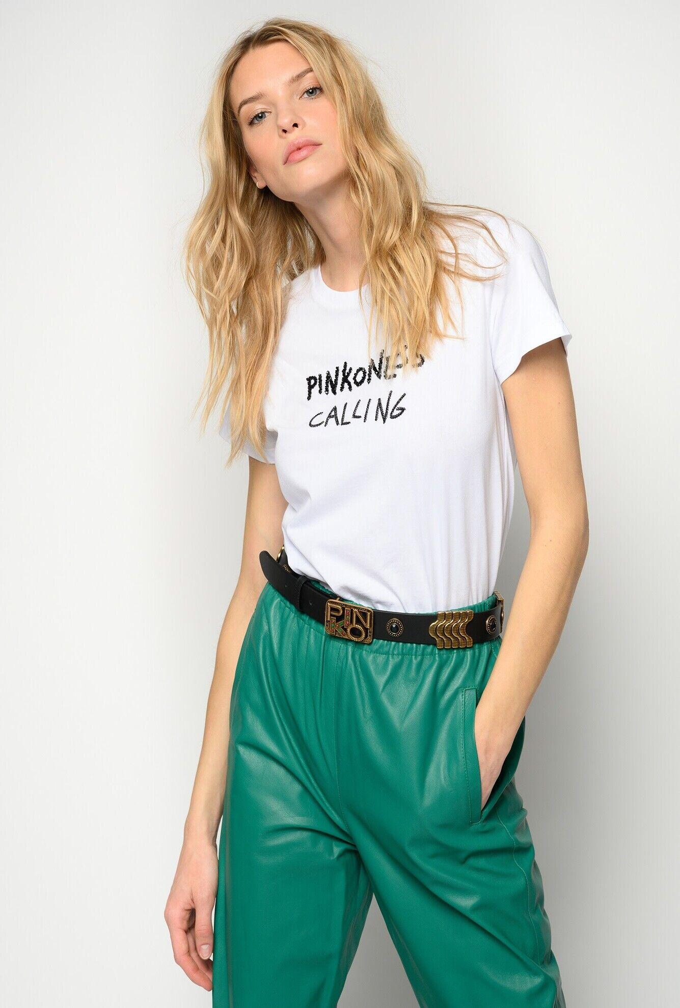 Pinkoness Calling Embroidered T-Shirt - Pinko