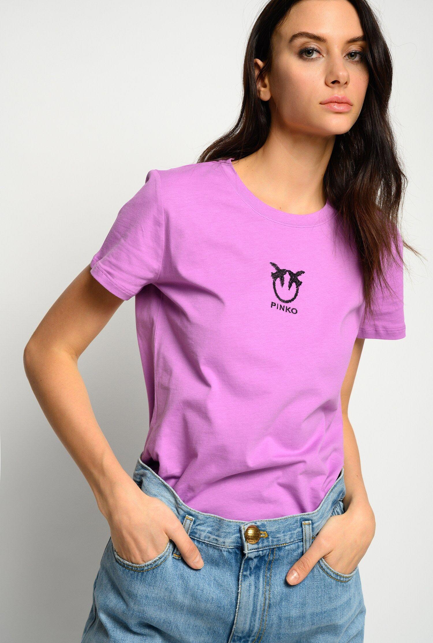 T Shirt Logo Love Birds - Pinko