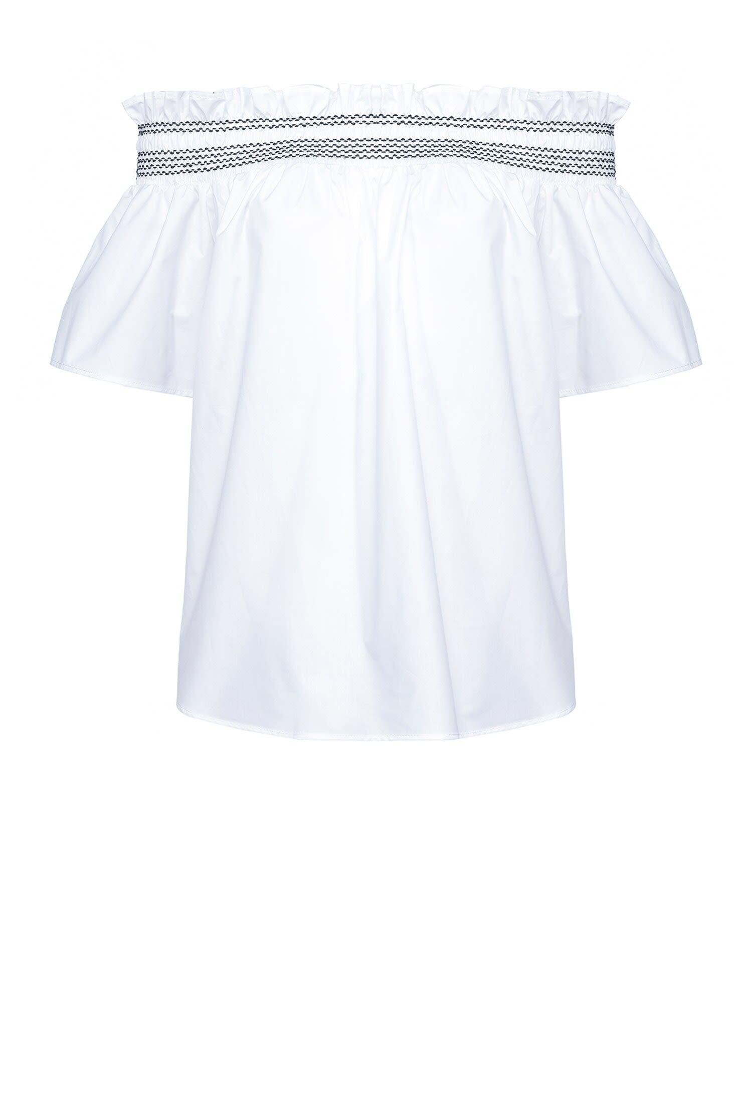 Blusa Off-Shoulders In Popeline - Pinko