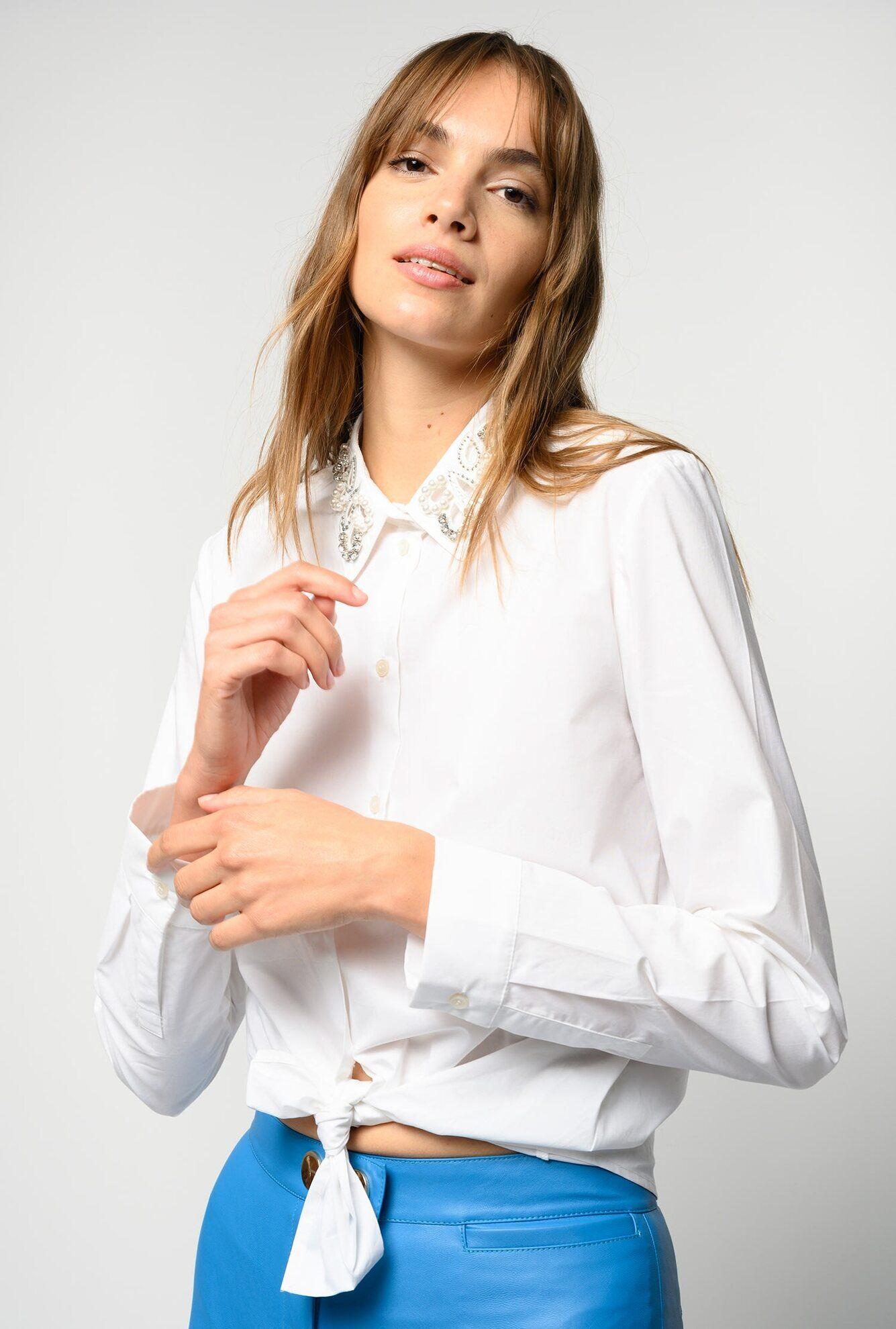 Camicia Con Colletto Gioiello - Pinko