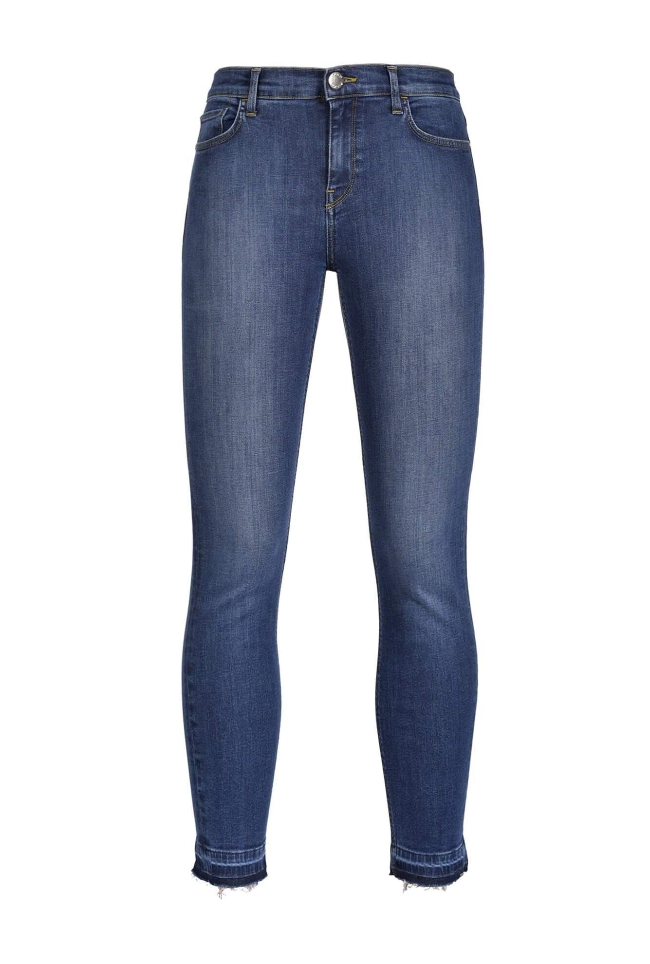 Jeans Skinny Cropped In Denim Stretch - Pinko