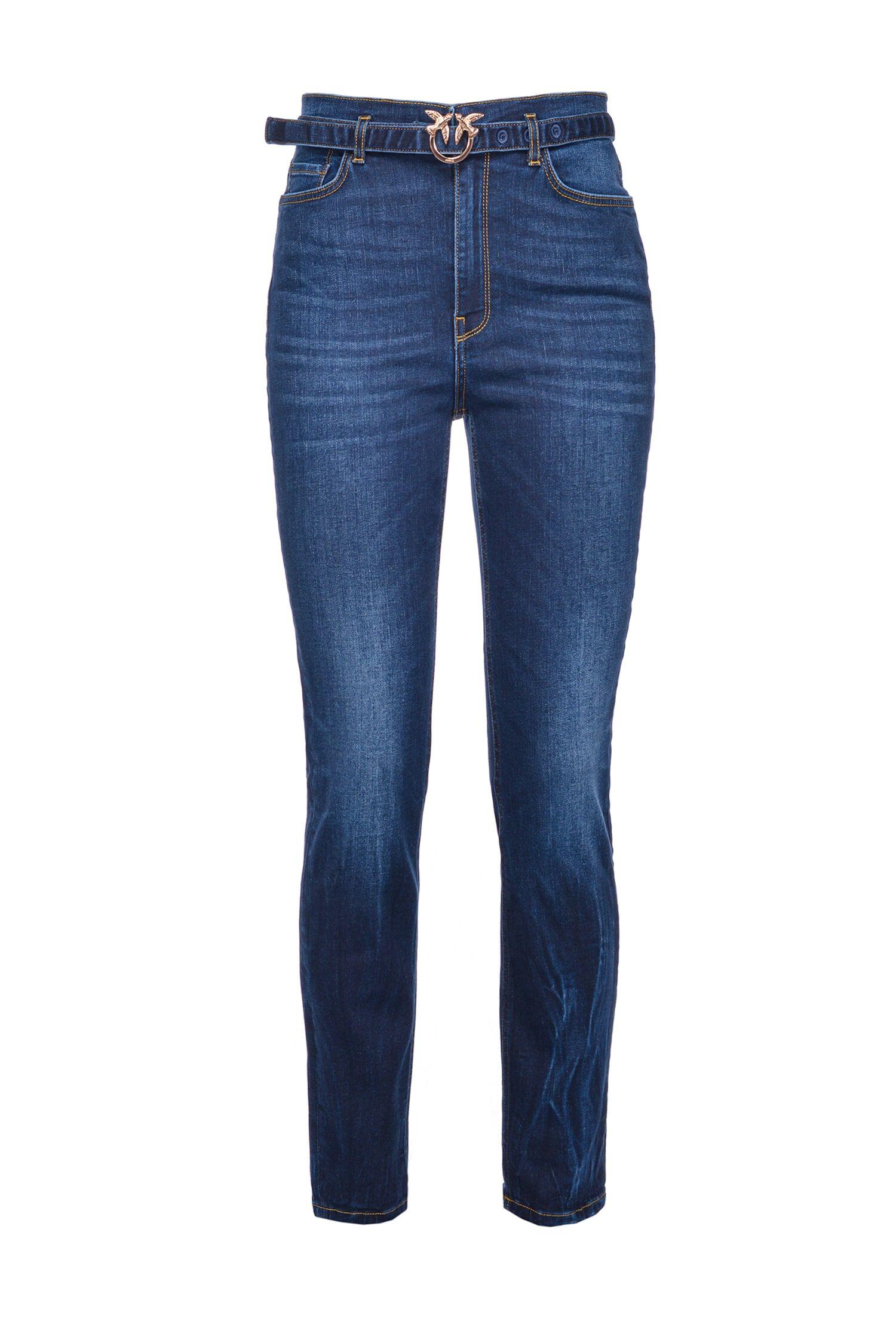 Jeans Skinny Con Cintura Love Birds - Pinko