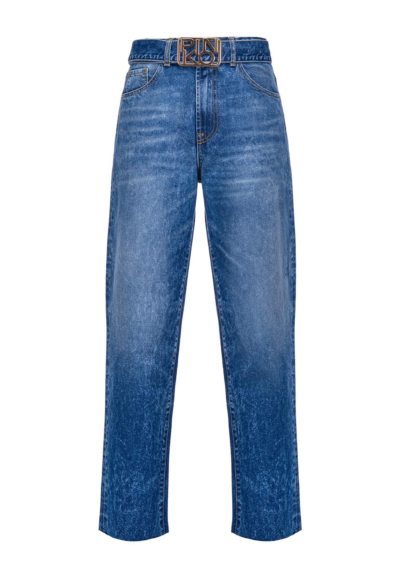 Jeans Mom-Fit Authentic Con Fibbia Logo - Pinko