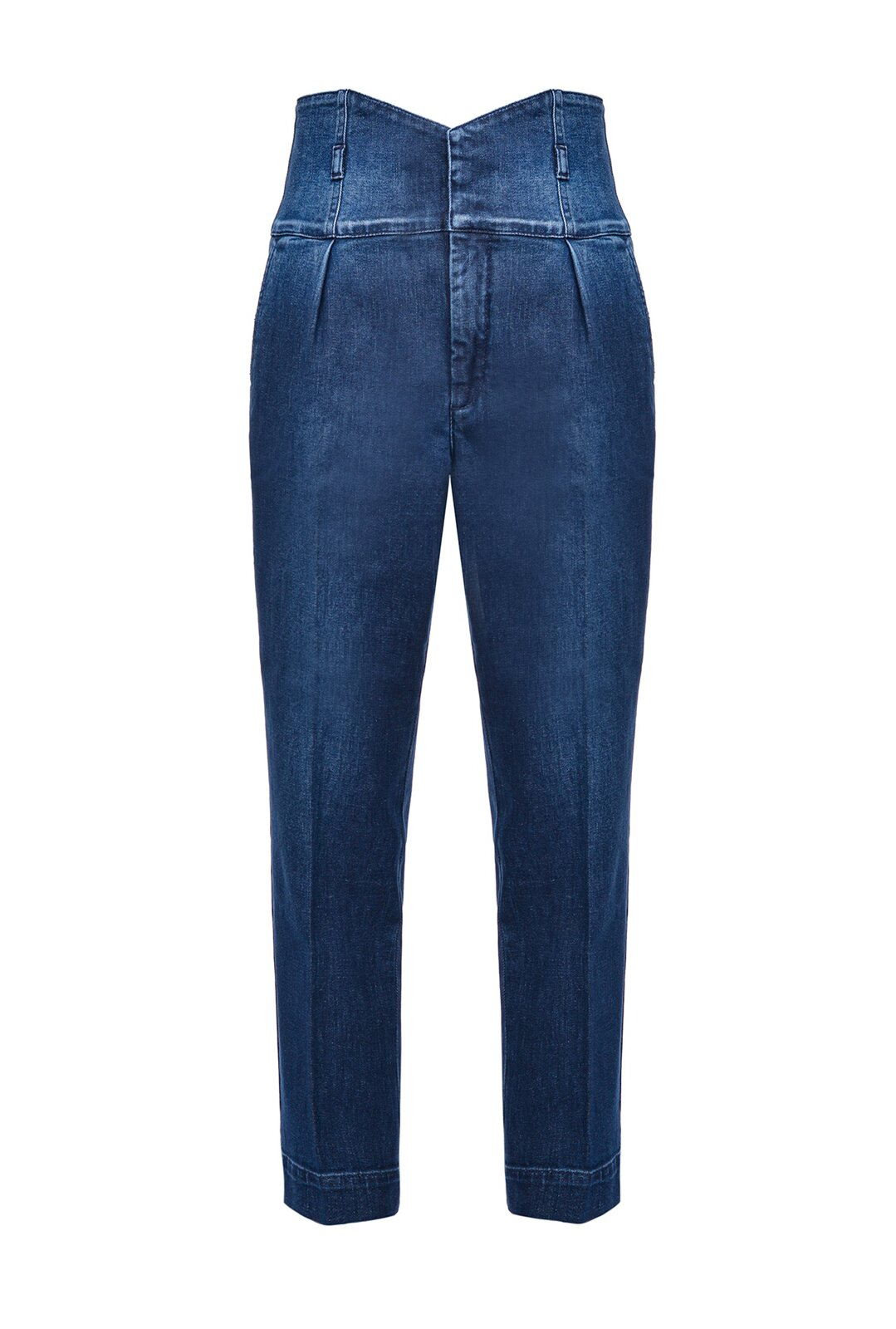 Jeans Chinos Con Vita Alta A Bustier - Pinko