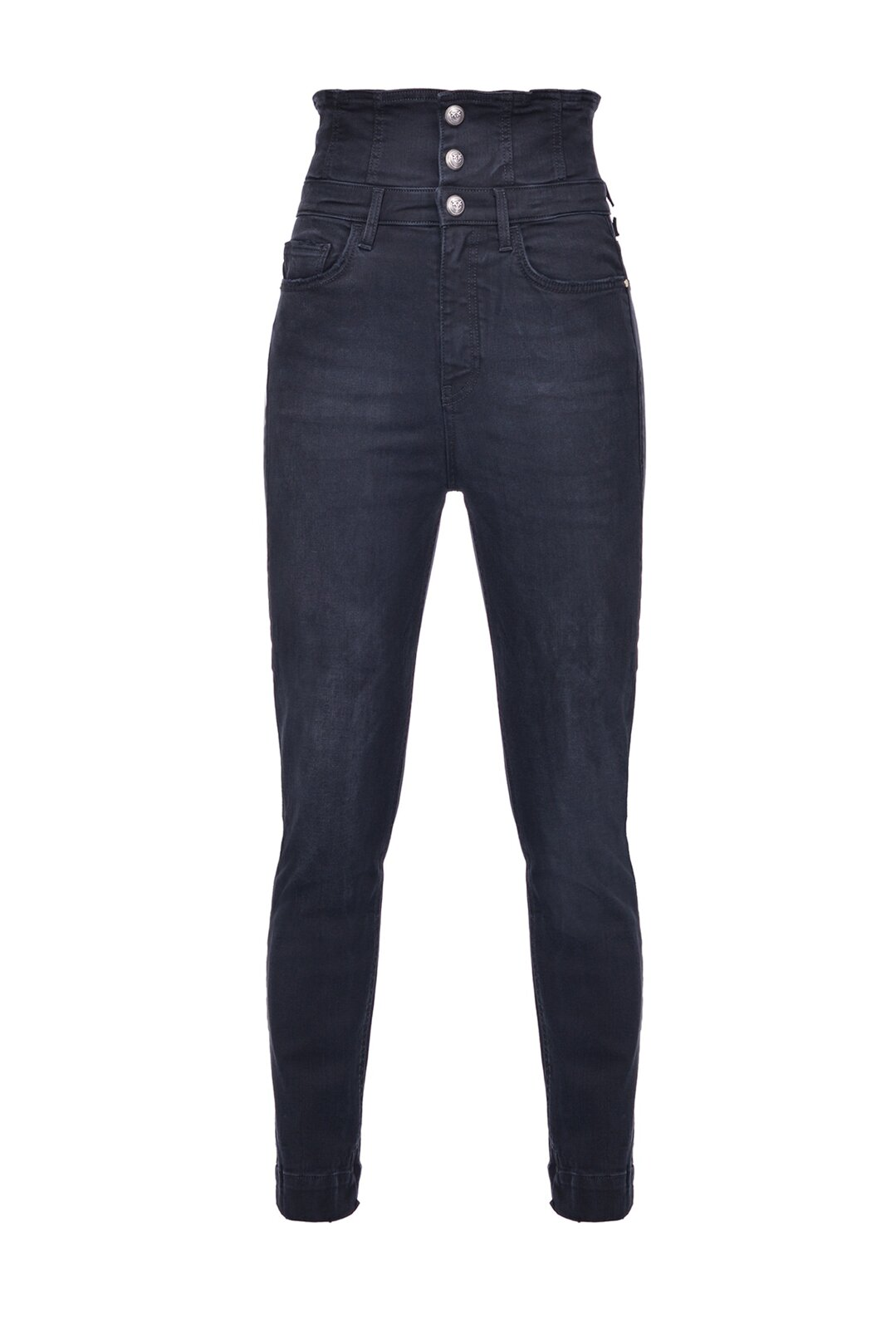 Jeans Skinny Super Alti In Denim Power Stretch Black - Pinko