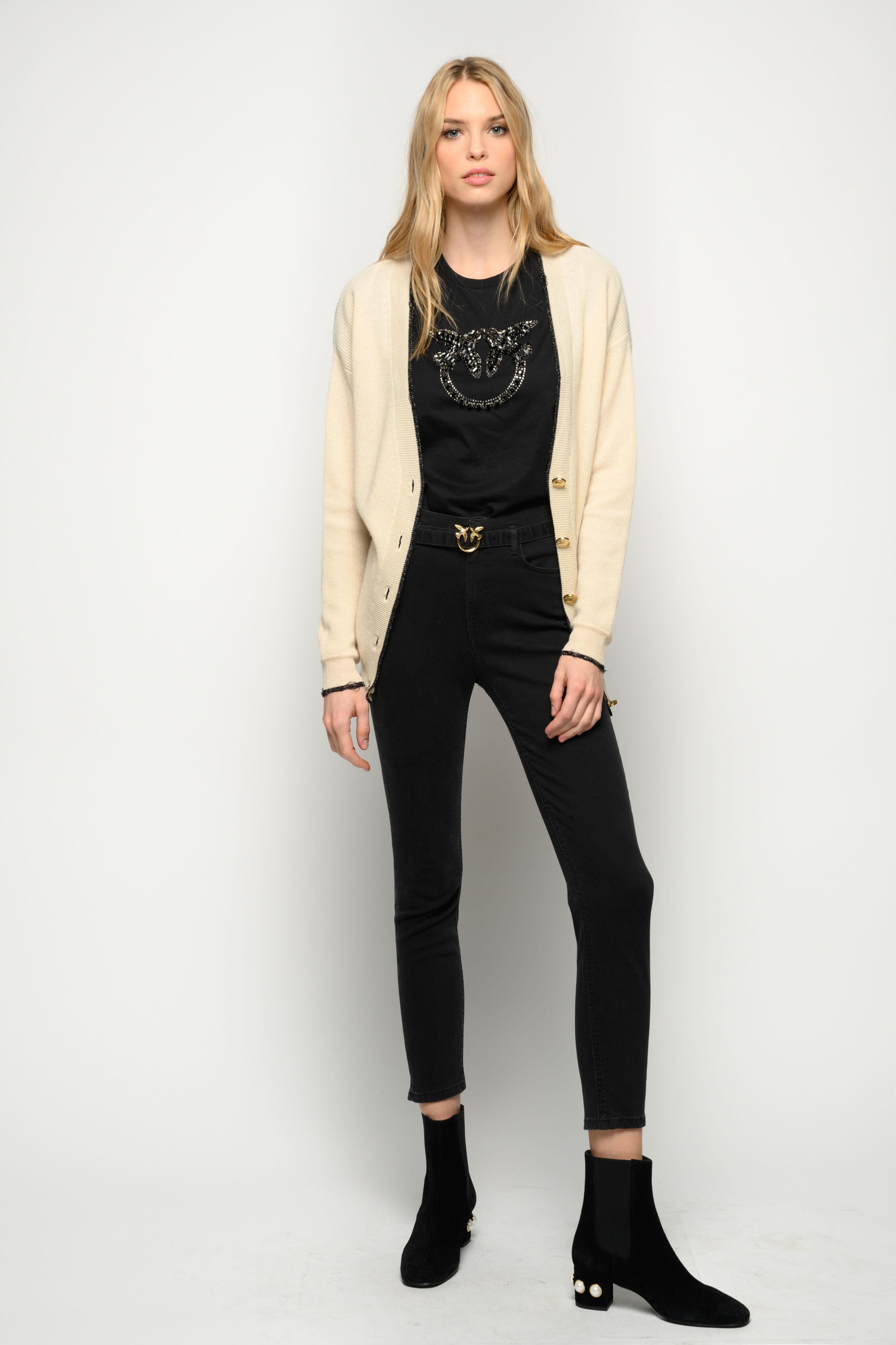 Jeans Skinny Black Con Cintura - Pinko