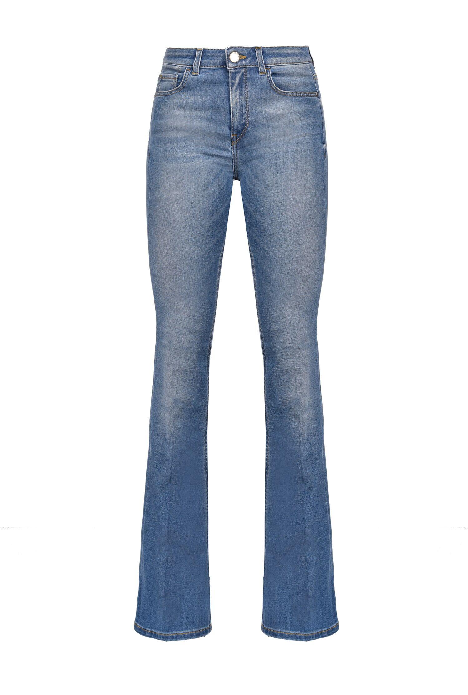 Jeans Flare In Denim Soft - Pinko