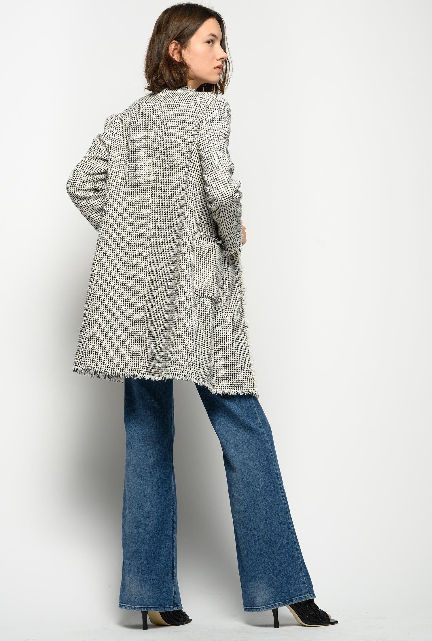 Jeans Flare Con Treccia In Denim Comfort - Pinko