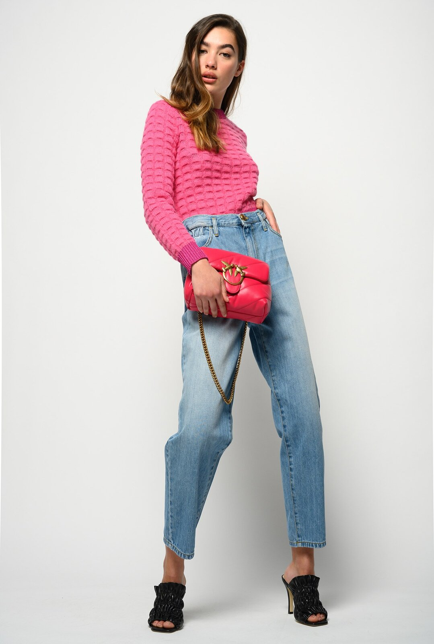 Jeans Mom-Fit Con Vita Elastica - Pinko