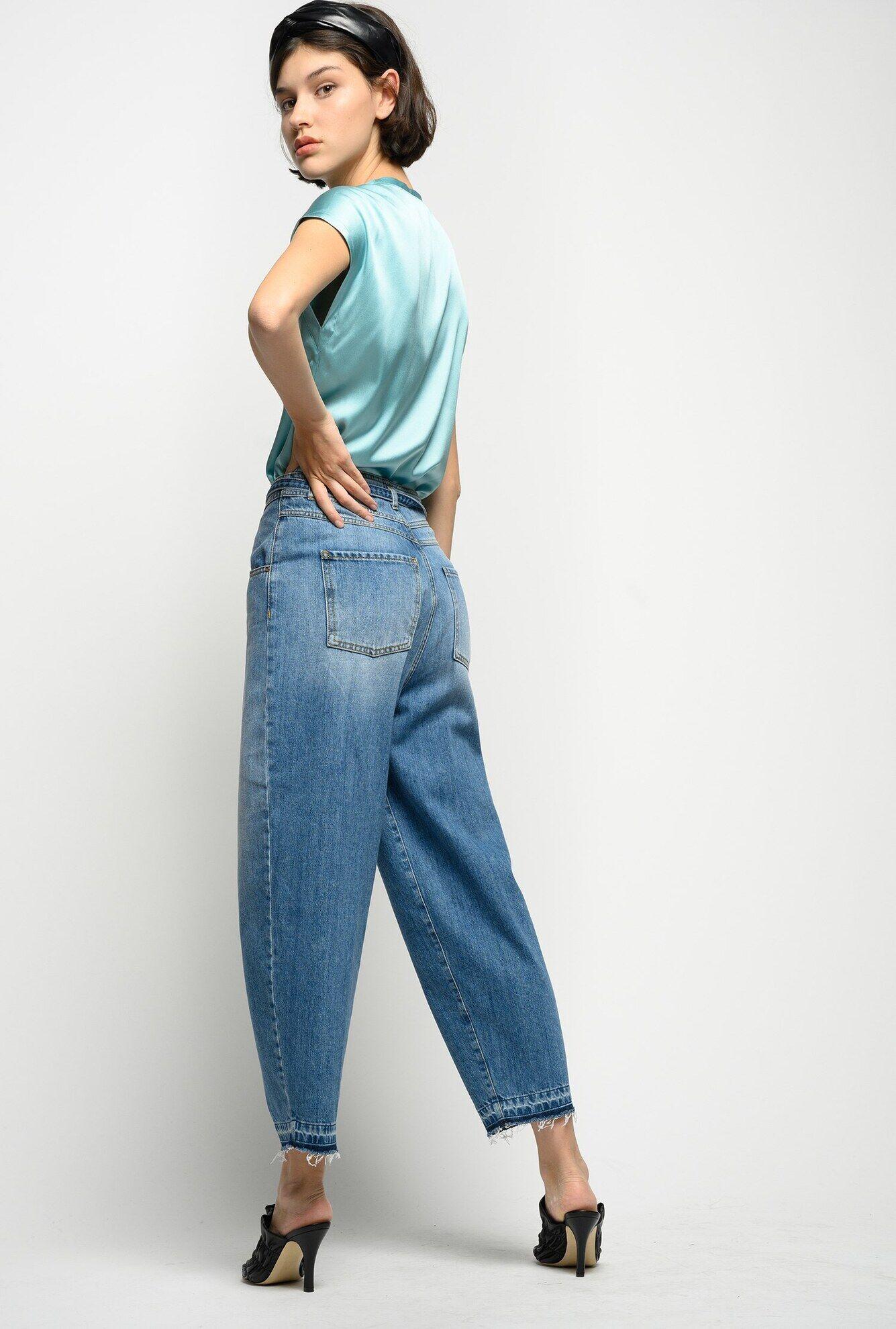 Jeans Slouchy In Denim Vintage - Pinko