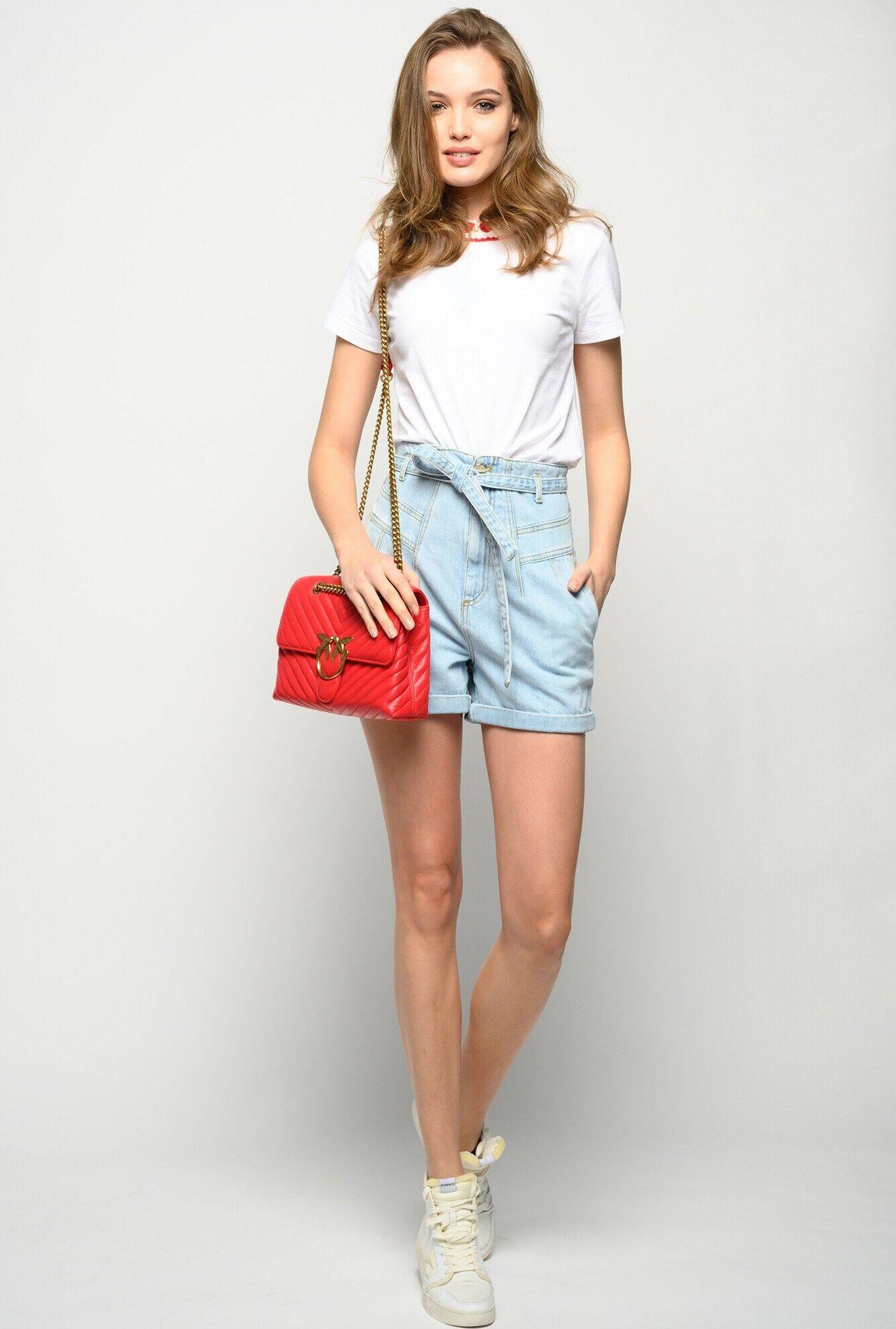 Shorts In Denim Vintage - Pinko