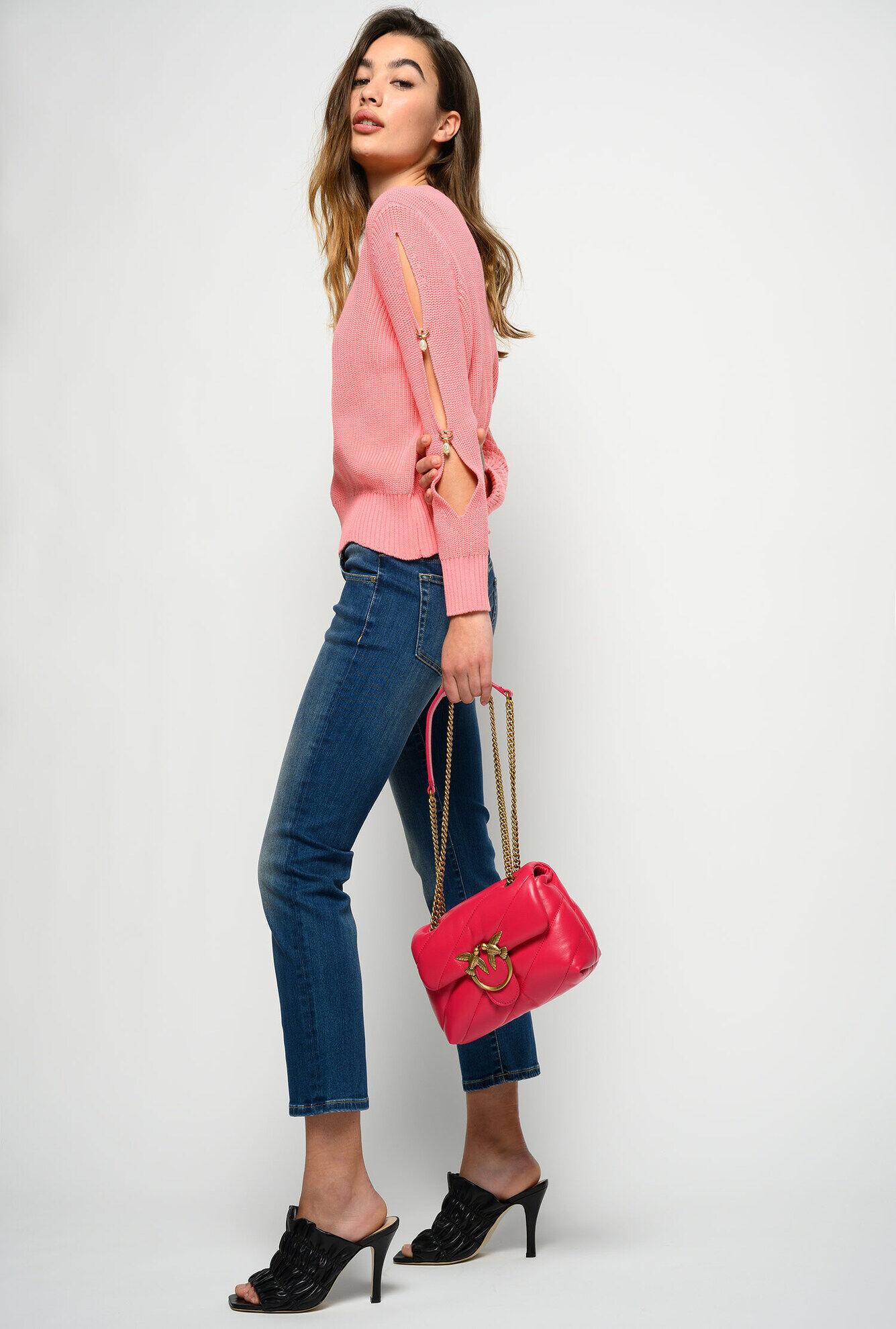 Jeans Slim Straight A Vita Bassa - Pinko