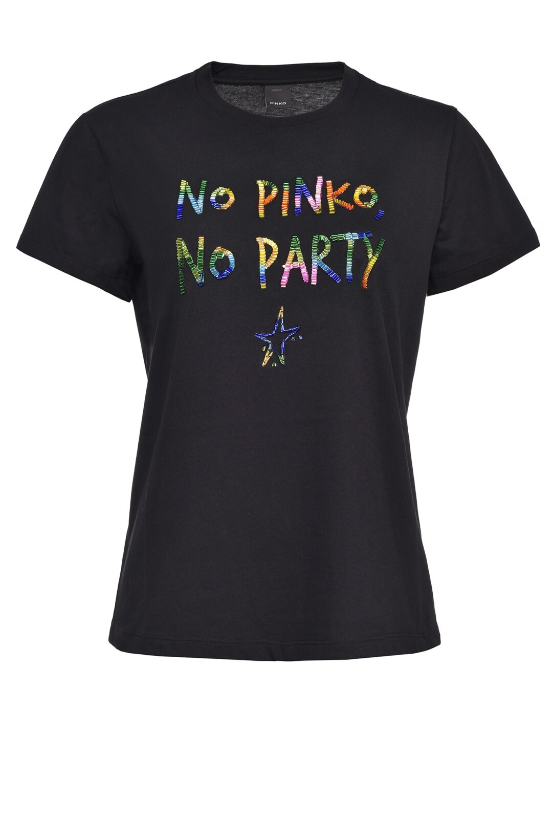No Pinko No Party Multicolor T-Shirt - Pinko