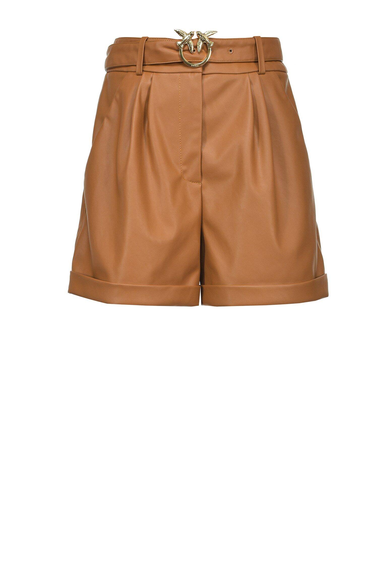 Shorts Effetto Pelle - Pinko