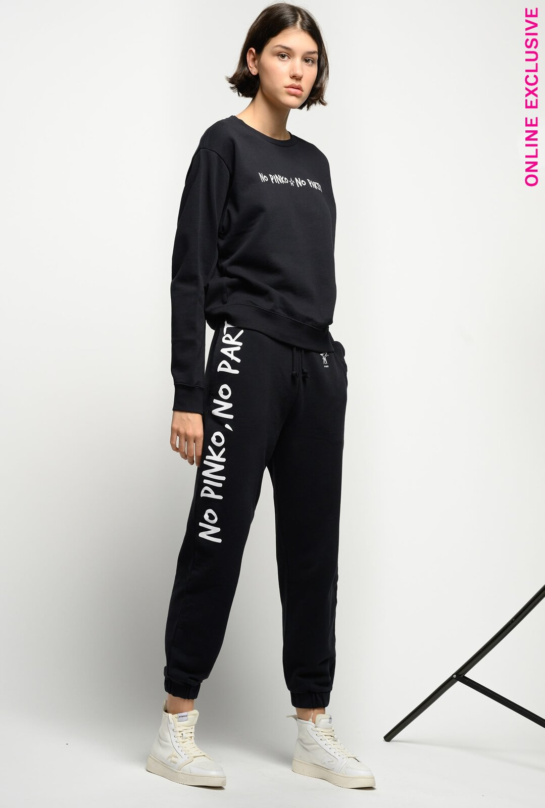 Joggers In Felpa No Pinko No Party - Pinko