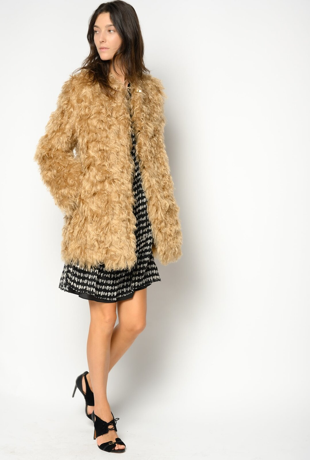 Cappotto In Faux Fur Di Mohair - Pinko