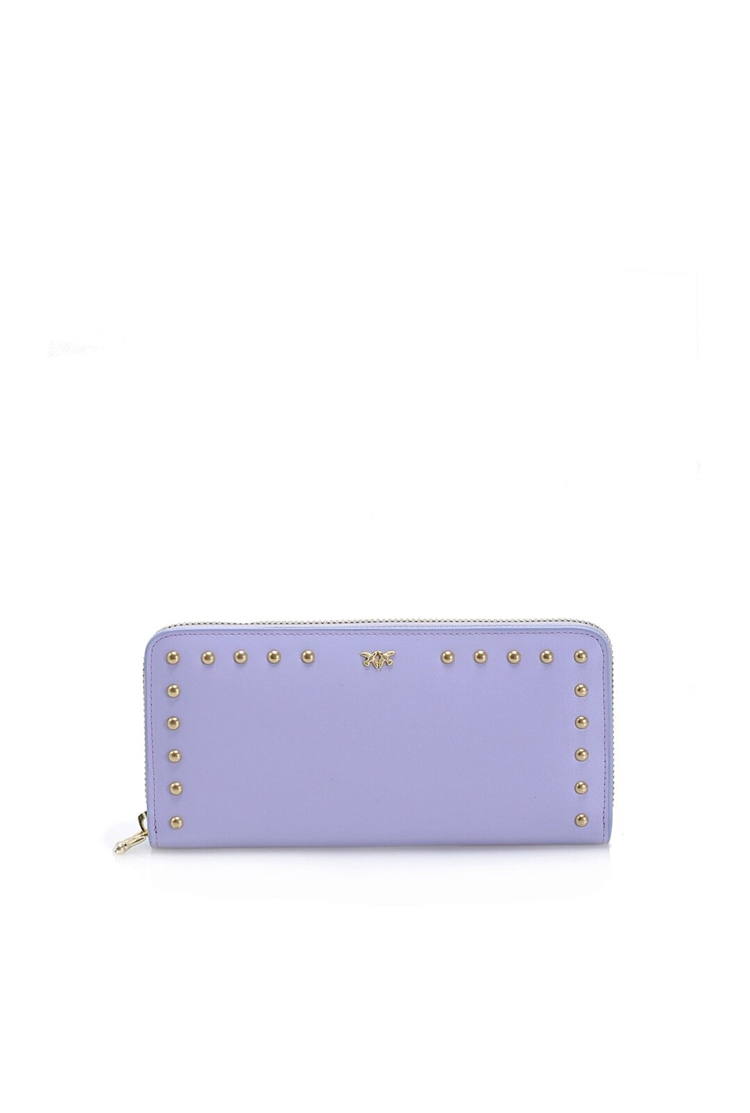Zip-Around Wallet In Leather With Studs - Pinko