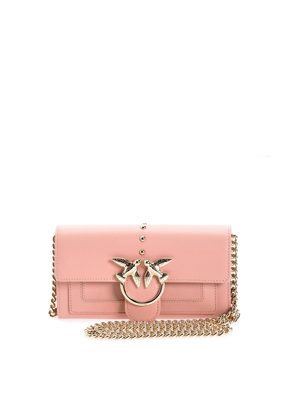 Leather Shoulder Wallet - Pinko