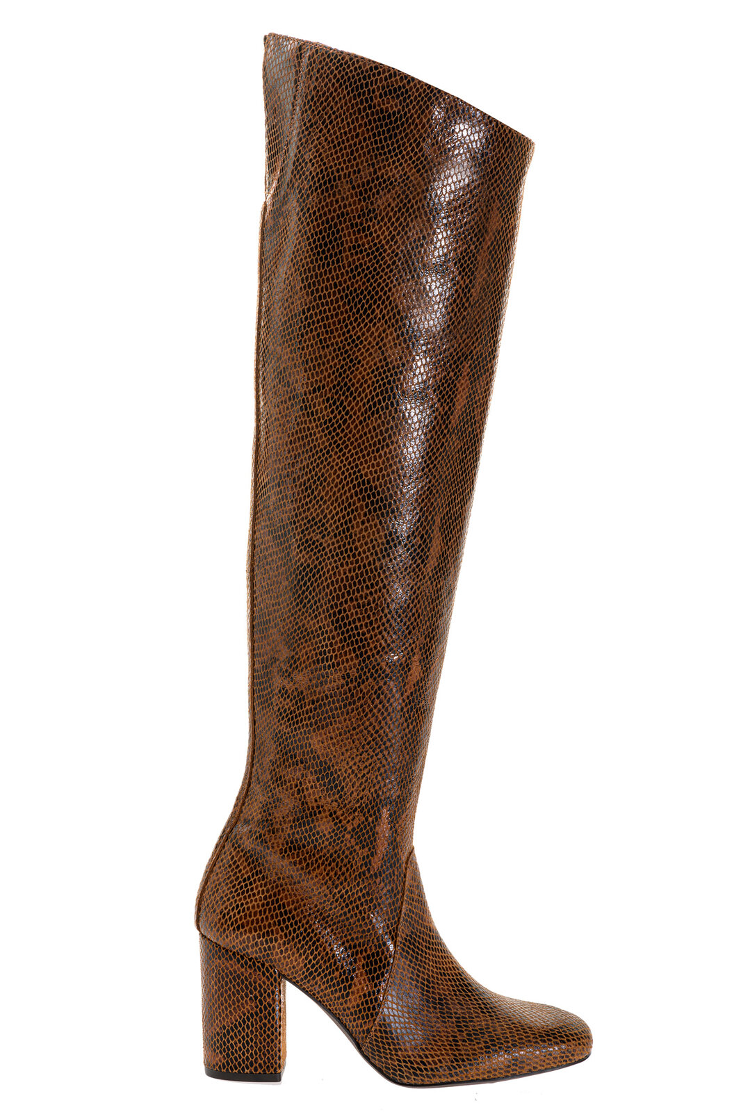 Cuissard Boots In Python Print Leather - Pinko