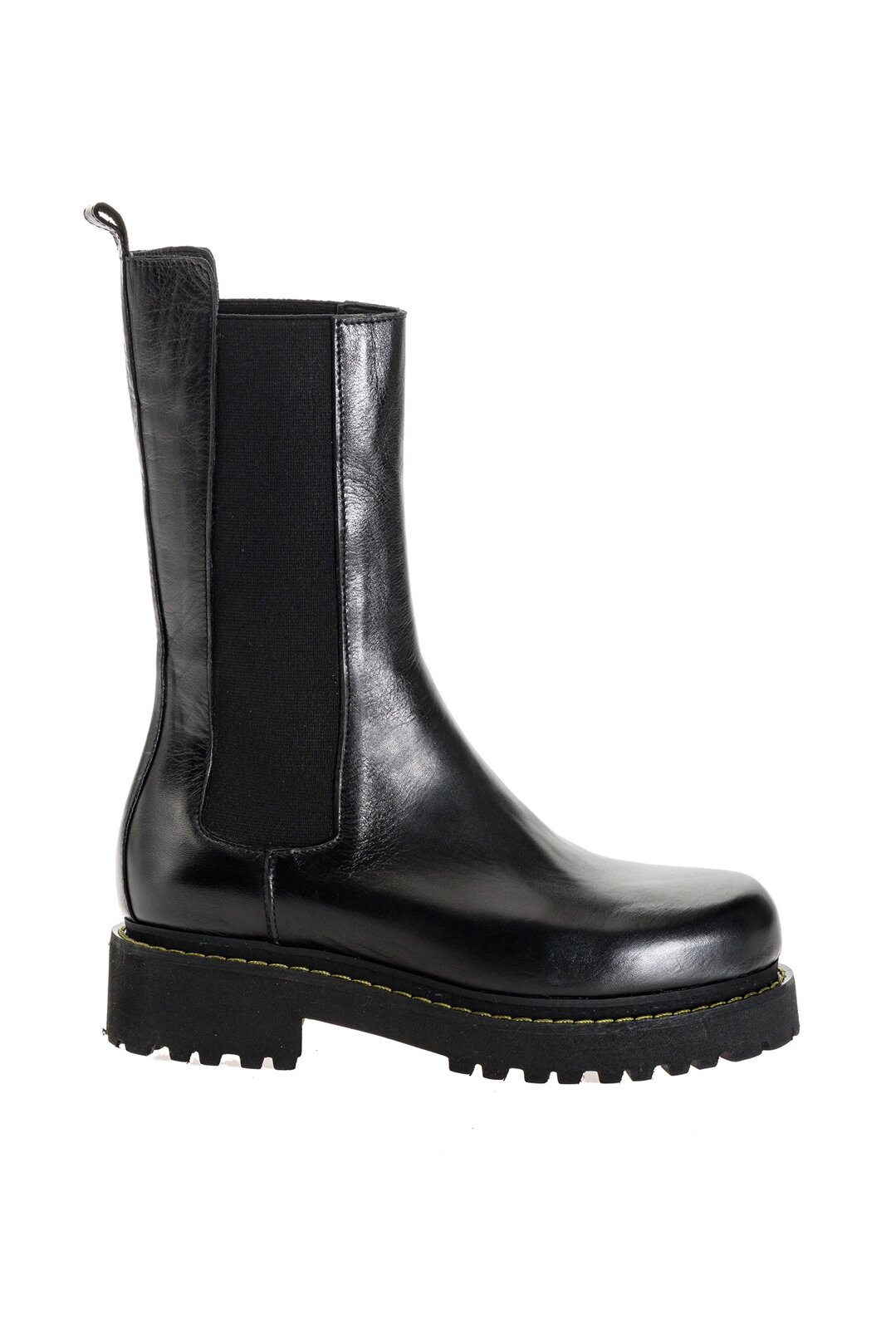 Leather Platform Boots Without Laces - Pinko
