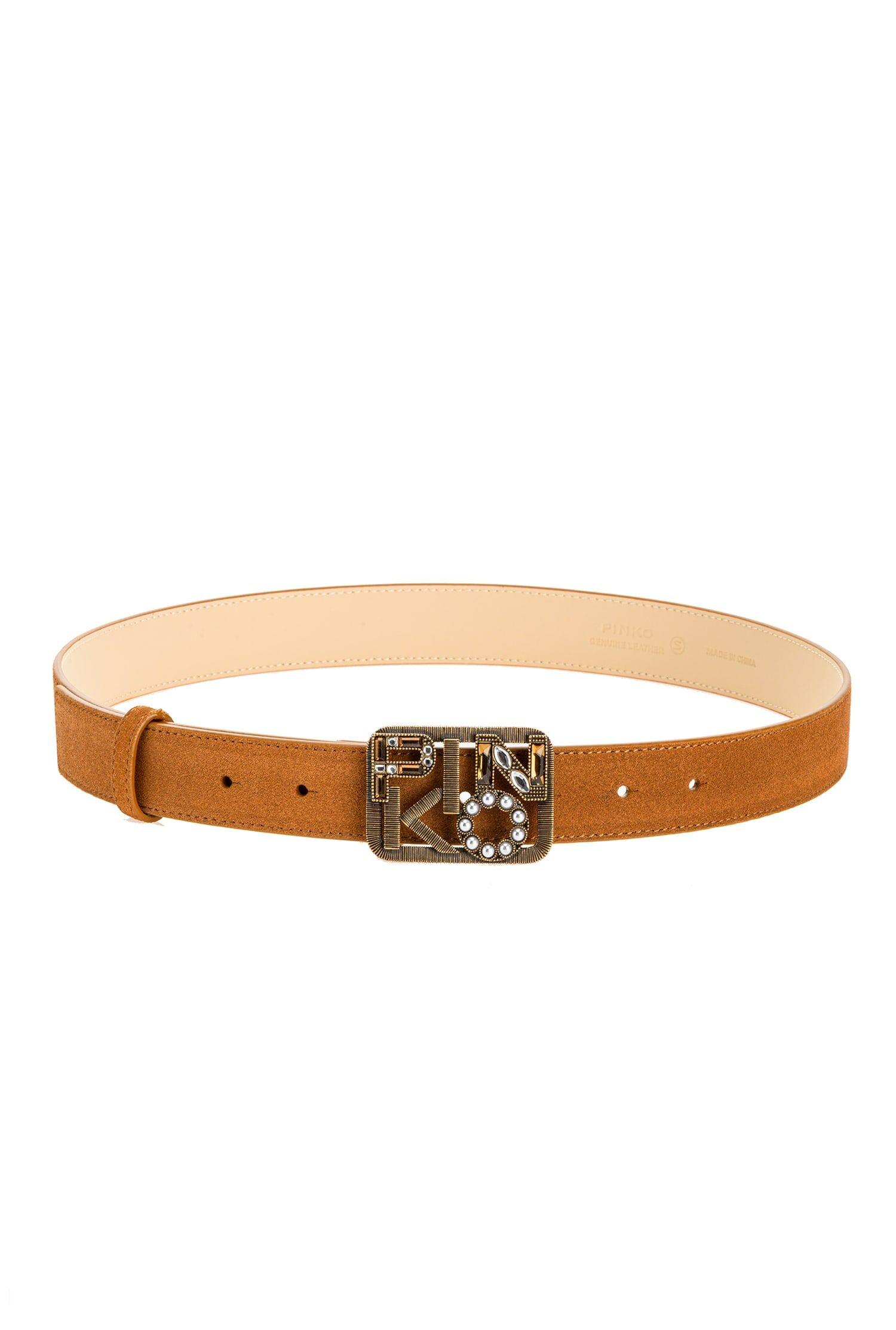 Low Belt With Jewel Logo Buckle - Pinko