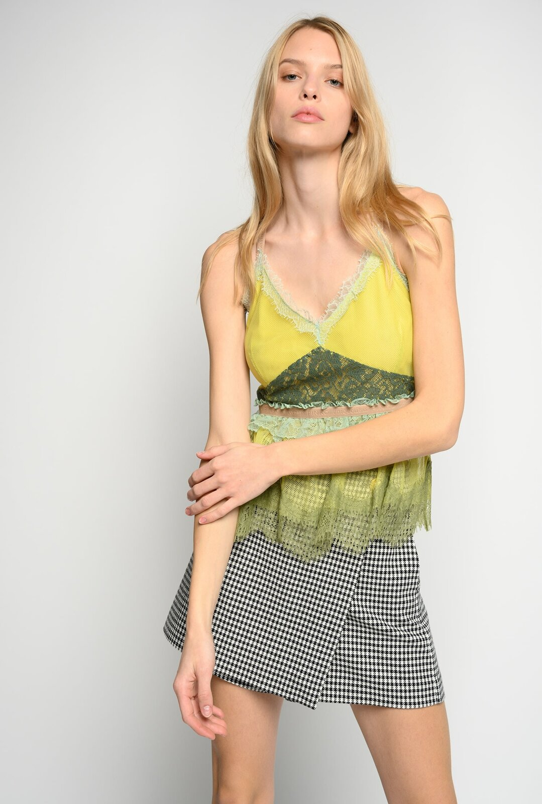 Mesh And Lace Top - Pinko