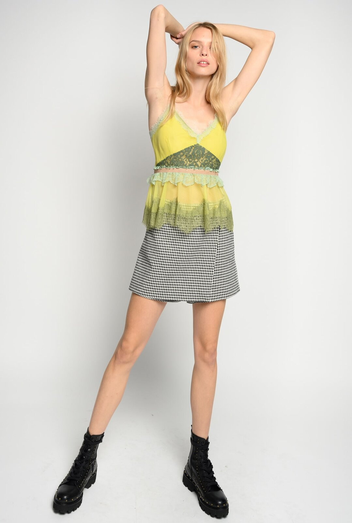 Vichy miniskirt trousers - Pinko