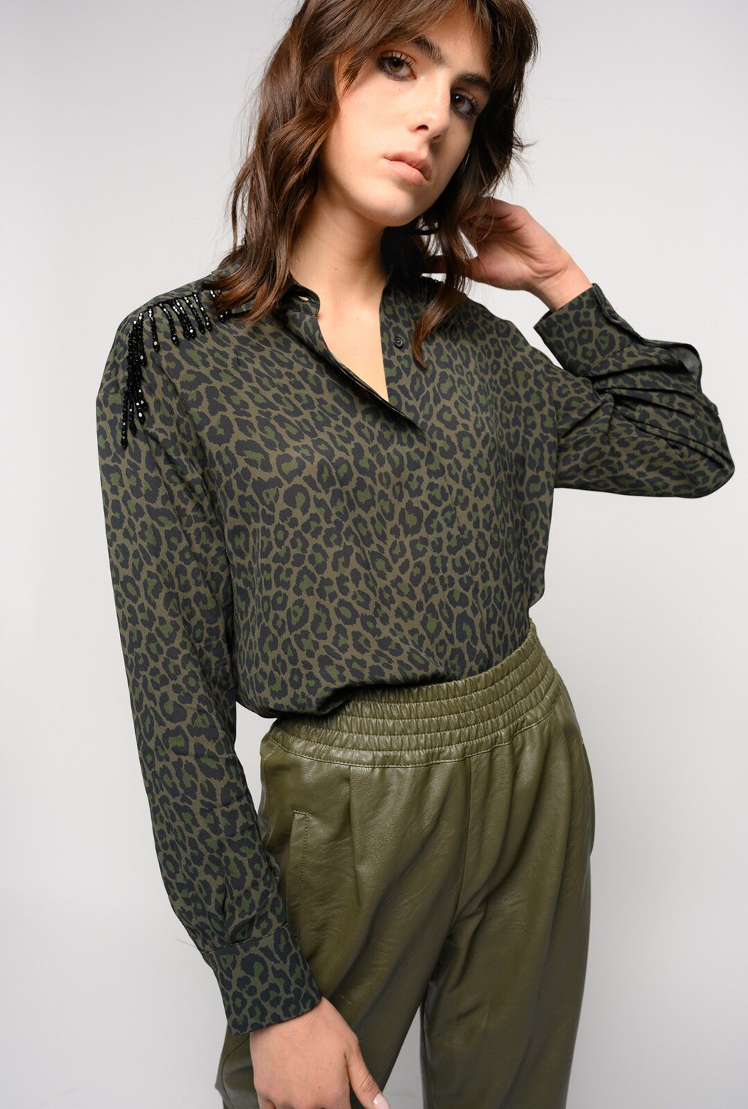 Spotted Shirt With Beads - Pinko
