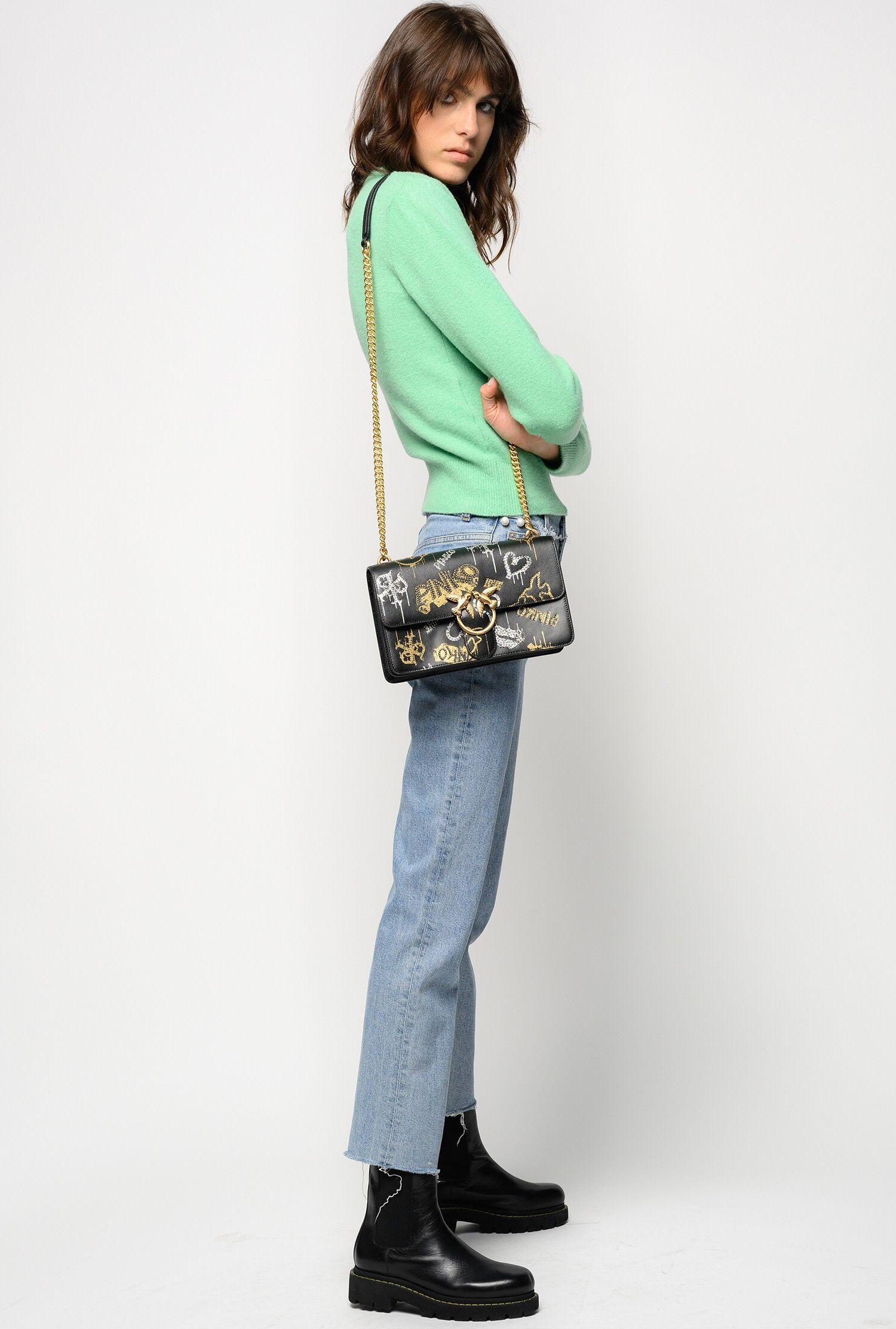 Jeans Straight Con Perle - Pinko