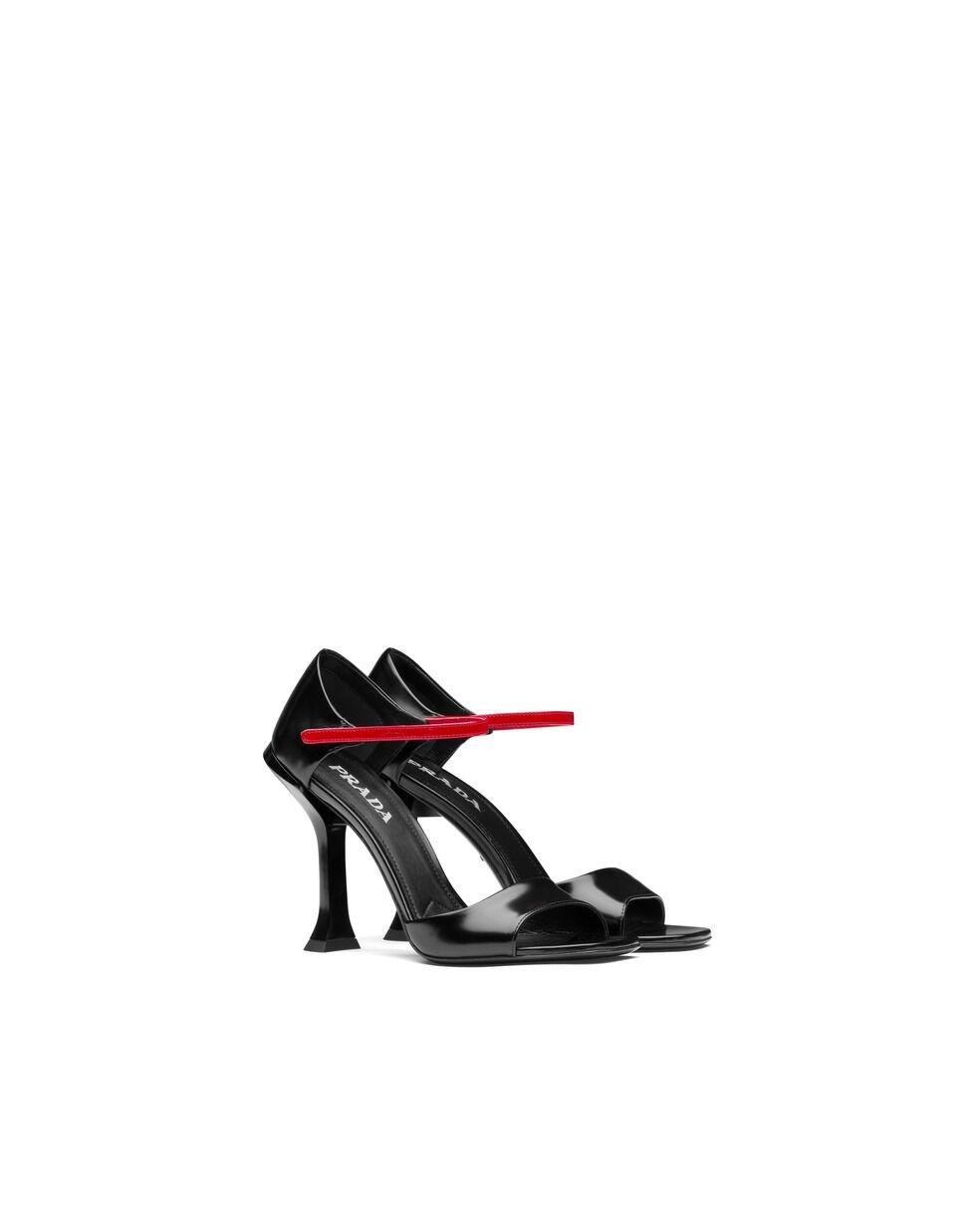 Sandali in pelle spazzolata bicolore - Prada