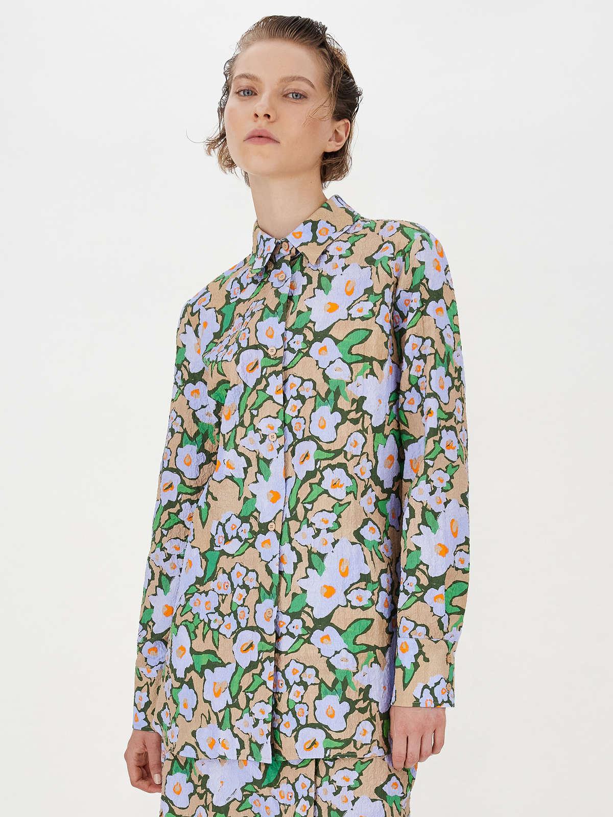 Camicia Con Stampa Floreale - Max Mara