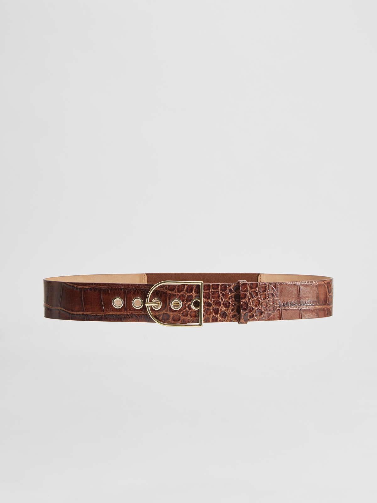 Crocodile print leather belt - Max Mara
