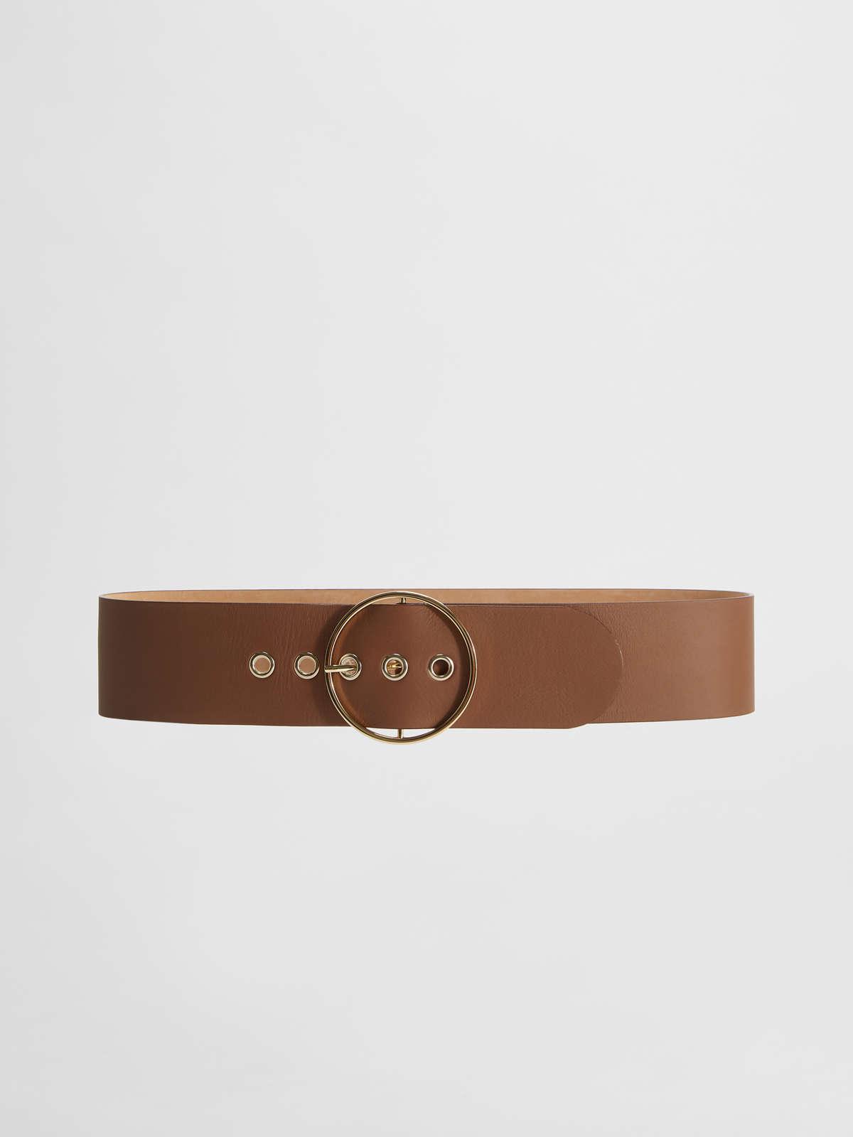Smooth leather belt - Max Mara