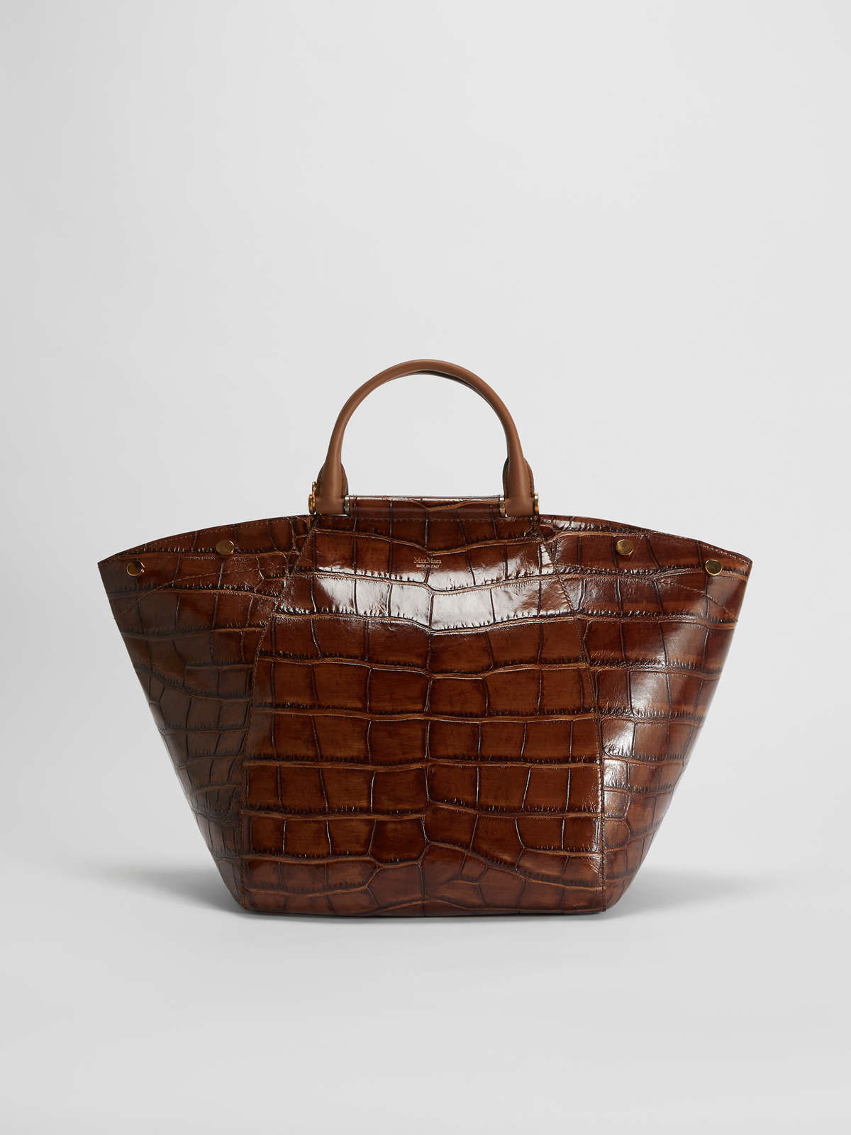 Crocodile print leather bag - Max Mara