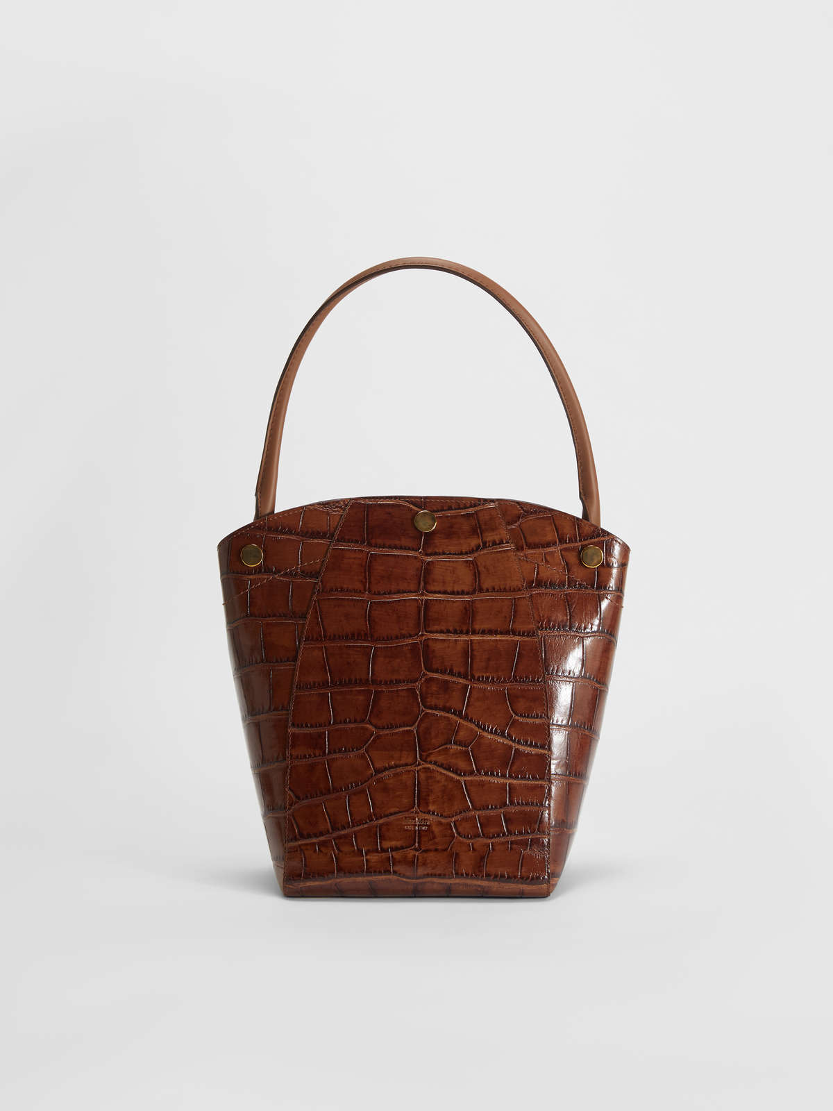 Crocodile print leather hobo bag - Max Mara