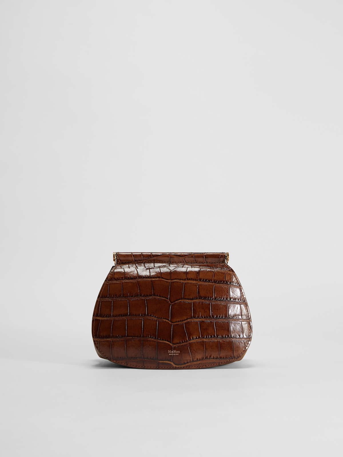 Shoulder bag in crocodile print leather - Max Mara