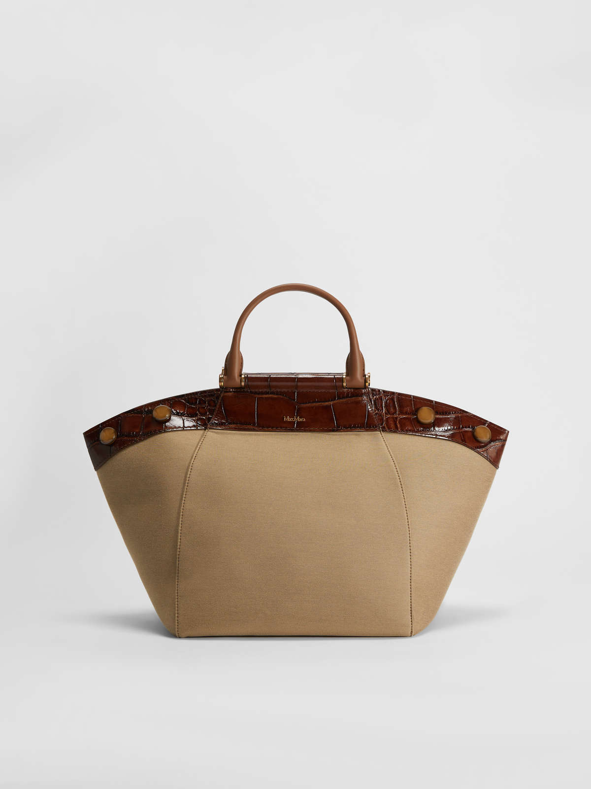 Tote Bag in leather and fabric - Max Mara