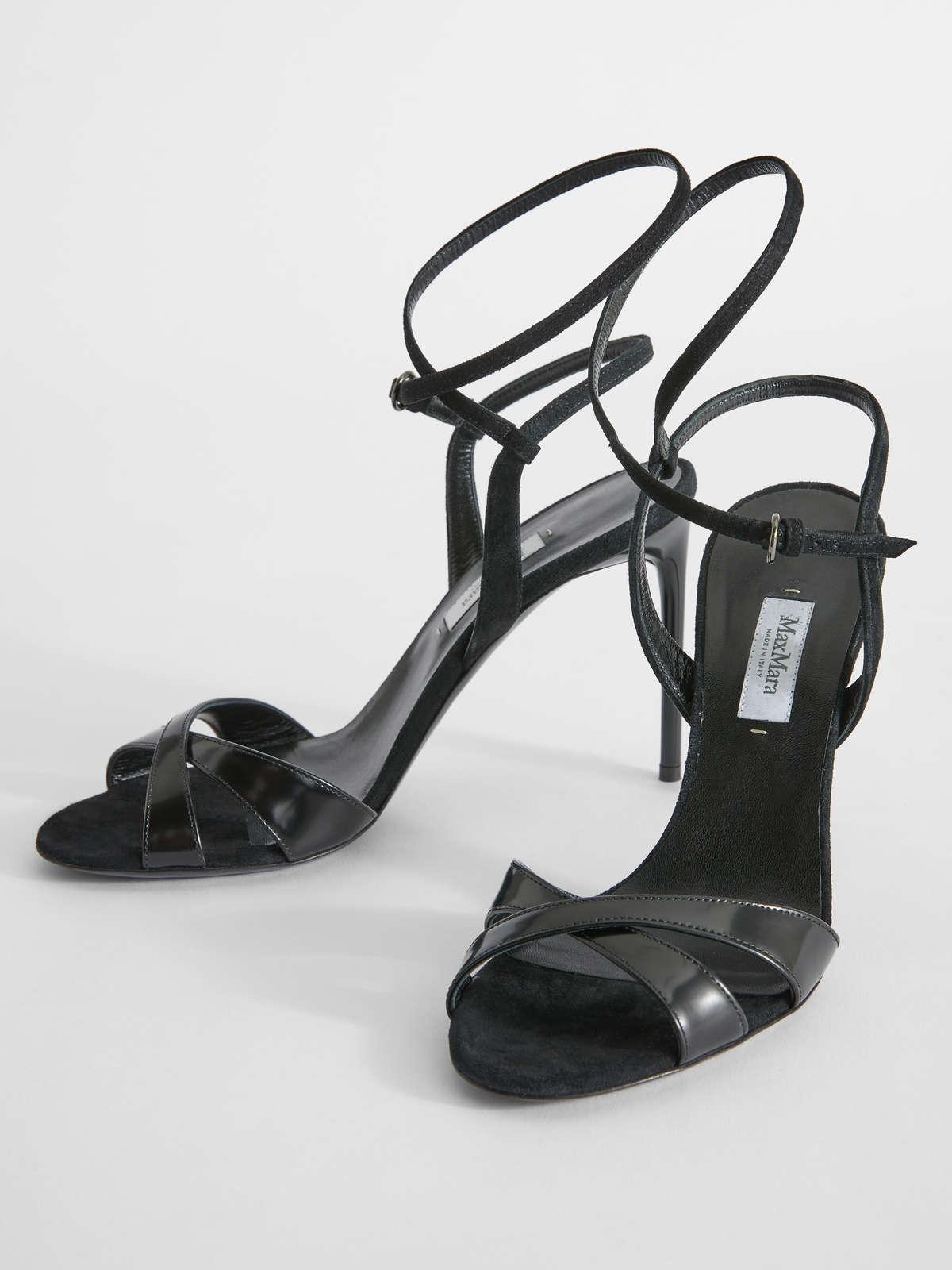 Sandalo In Pelle Abrasivata - Max Mara