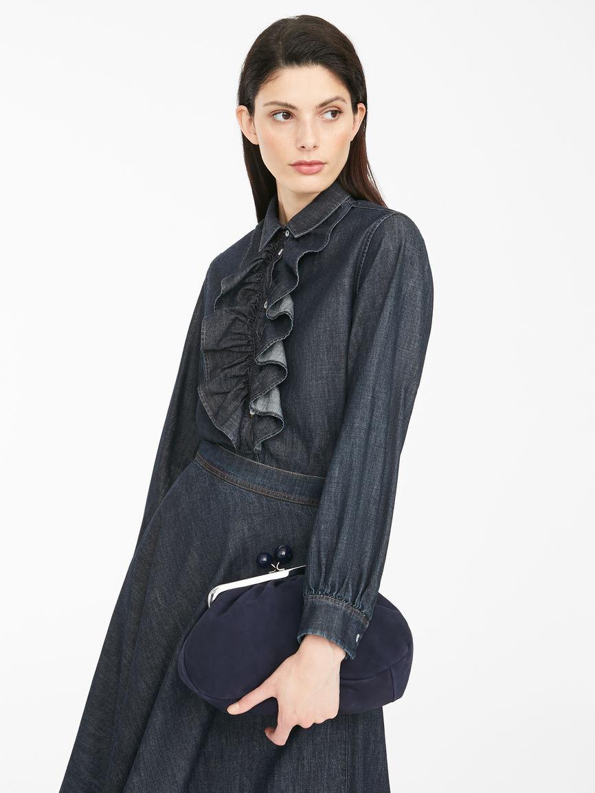 Camicia In Denim Di Cotone - Max Mara