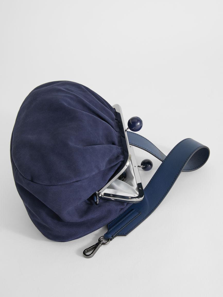 Medium Pasticcino Bag In Suede Leather - Max Mara