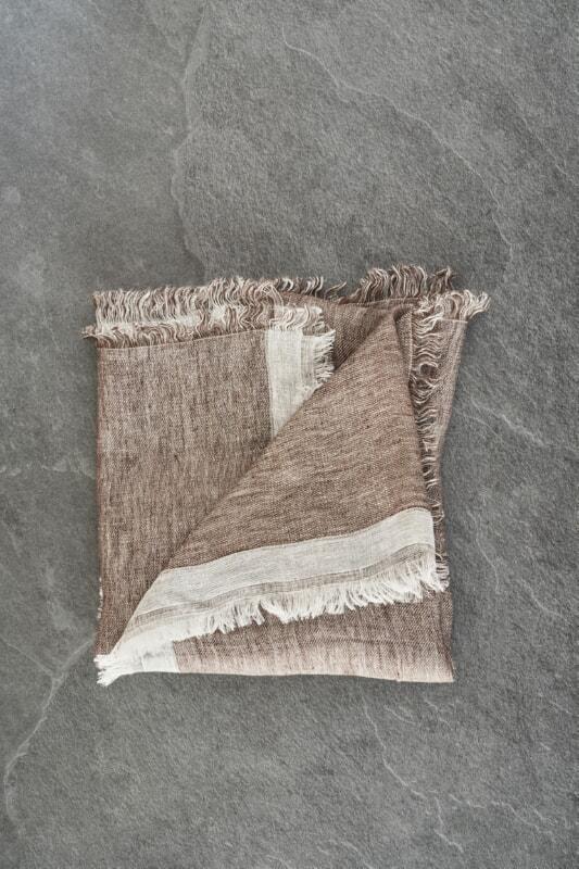 Sciarpa In Lino E Cotone Dimensioni 78X190 Cm Con Punti Luce Nella Trama. - Peserico